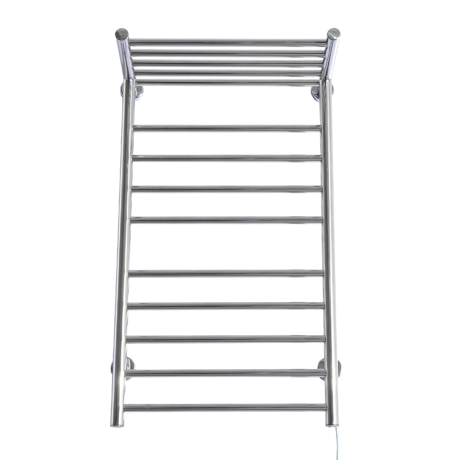 Homcom 9 Bar Stainless Steel Wall Mounted Heated Towel Warmer Rack With Shelf On Free Shipping Today 18004624
