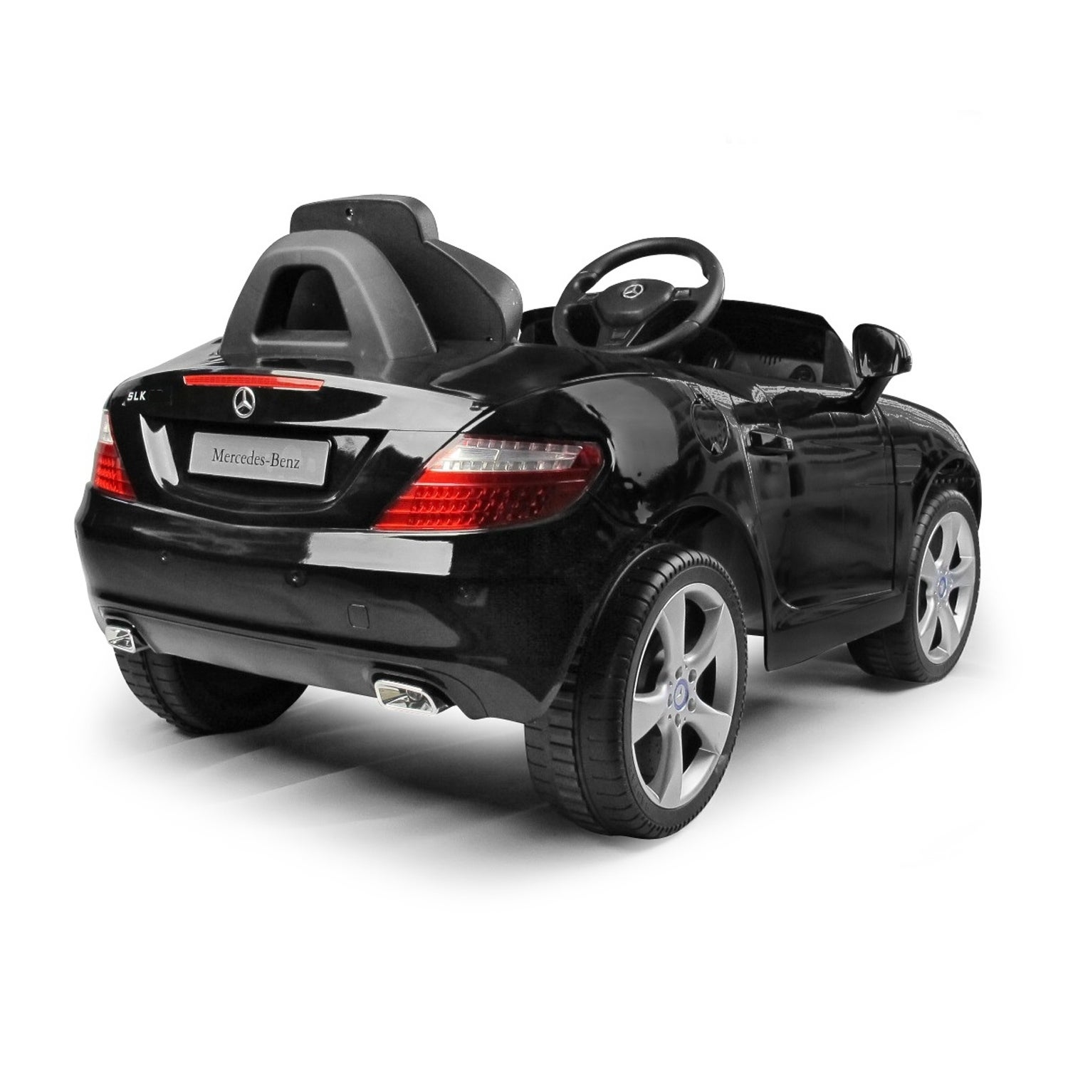 Mercedes Benz SLK Class 6V Kids Electric Ride On Car With MP3 And Remote  Control   Black   Free Shipping Today   Overstock   24175443