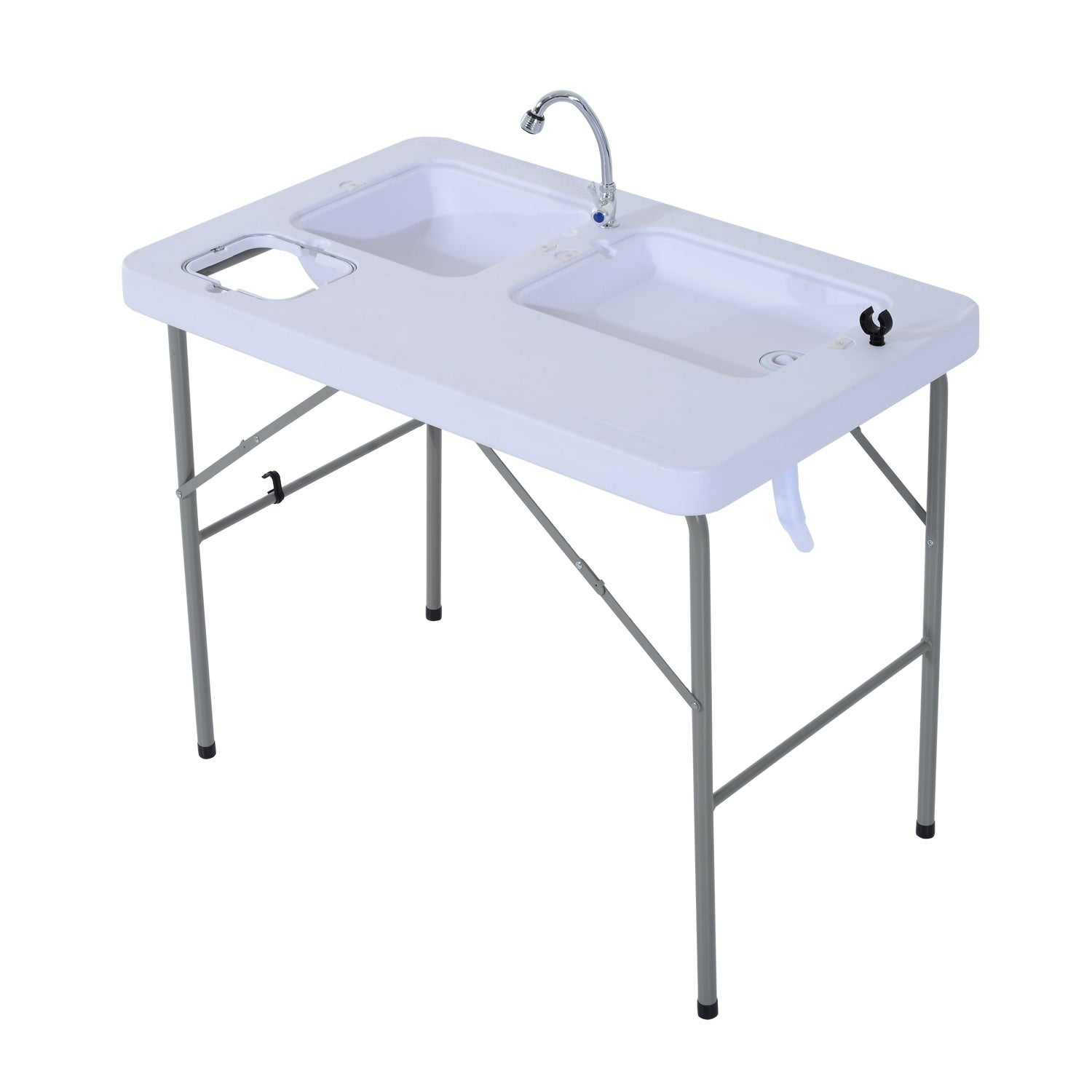 Shop Outsunny Portable Folding Camping Table with Faucet - Free ...