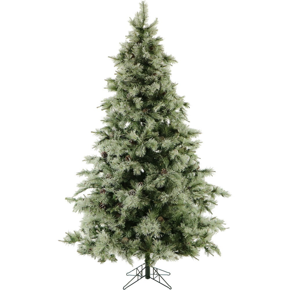 Shop Fraser Hill Farm 9.0-Ft. Glistening Pine Tree with Pine Cones ...