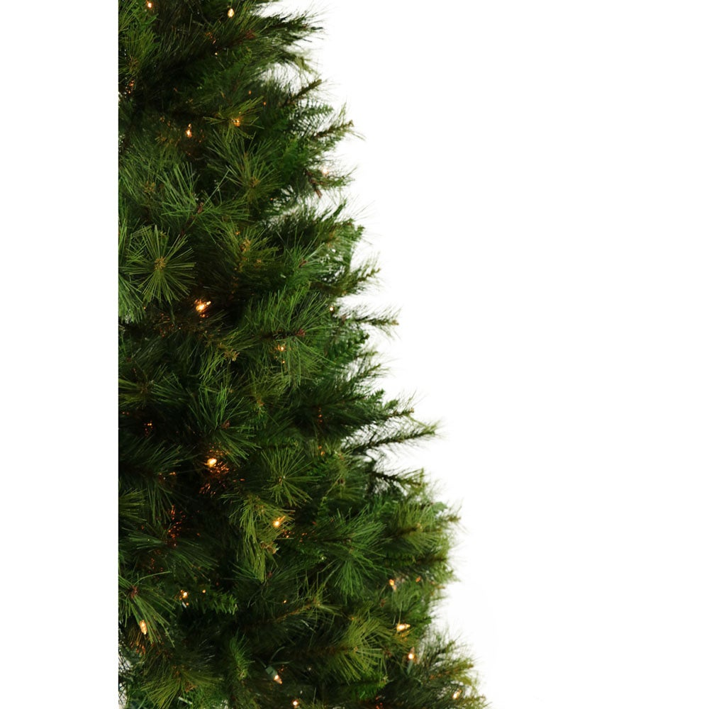 shop fraser hill farm 65 ft canyon pine half wall or corner christmas tree with clear - 65ft Christmas Tree