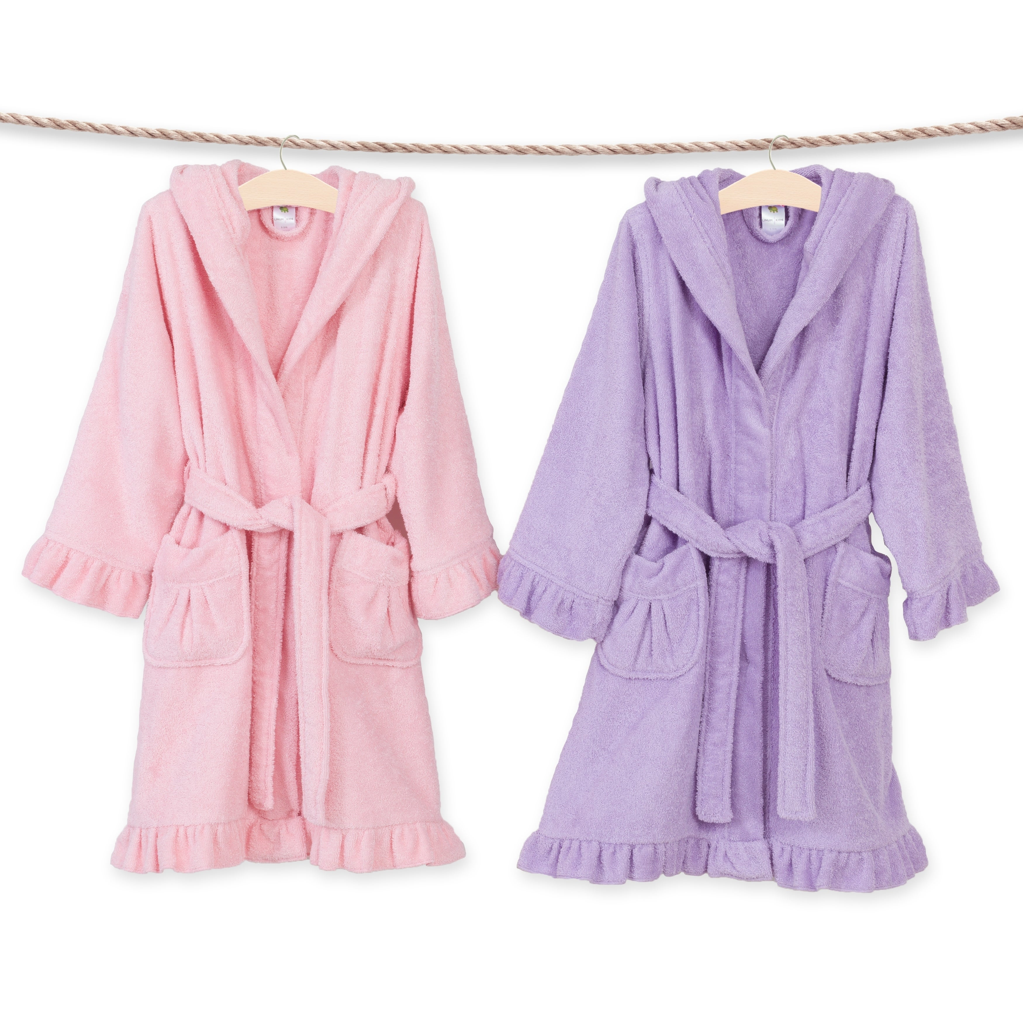 Shop Sweet Kids Ruffled Turkish Cotton Hooded Terry Bathrobe - Free  Shipping On Orders Over  45 - Overstock - 18007869 a8082ff6d