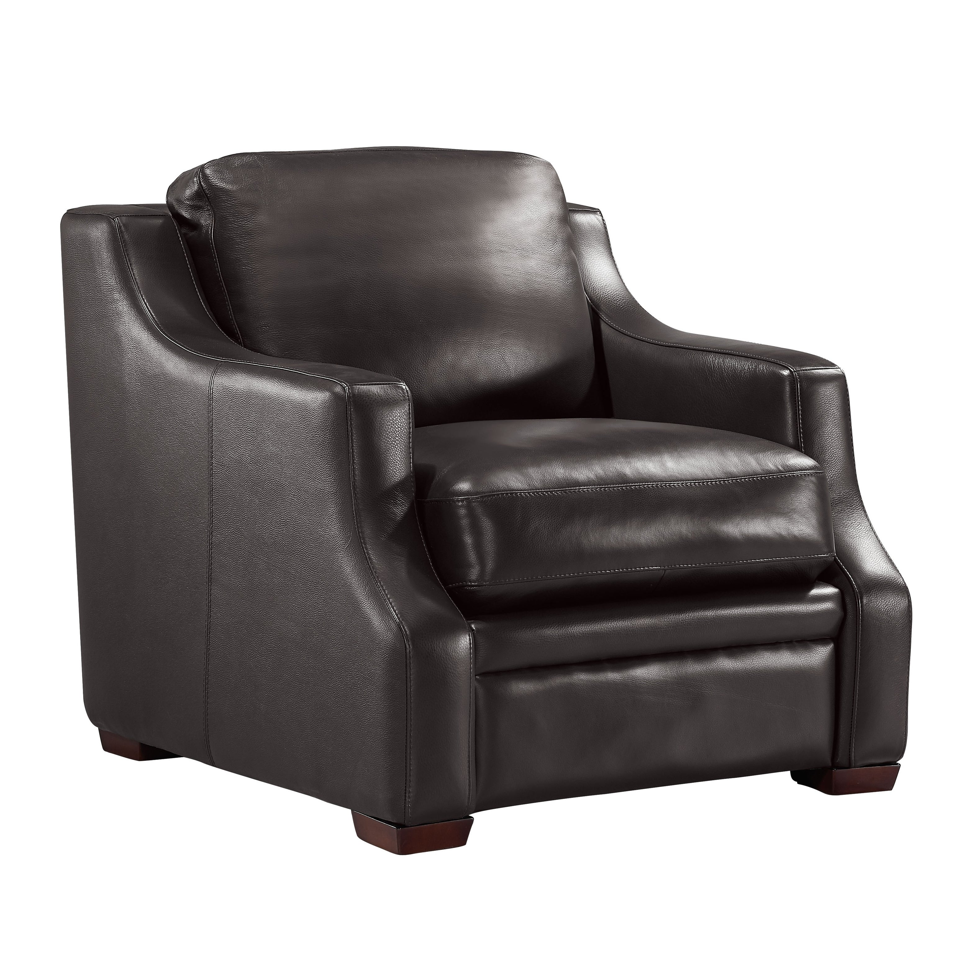 Jeremy Top Grain Italian Leather Club Chair Free Shipping Today 18007977
