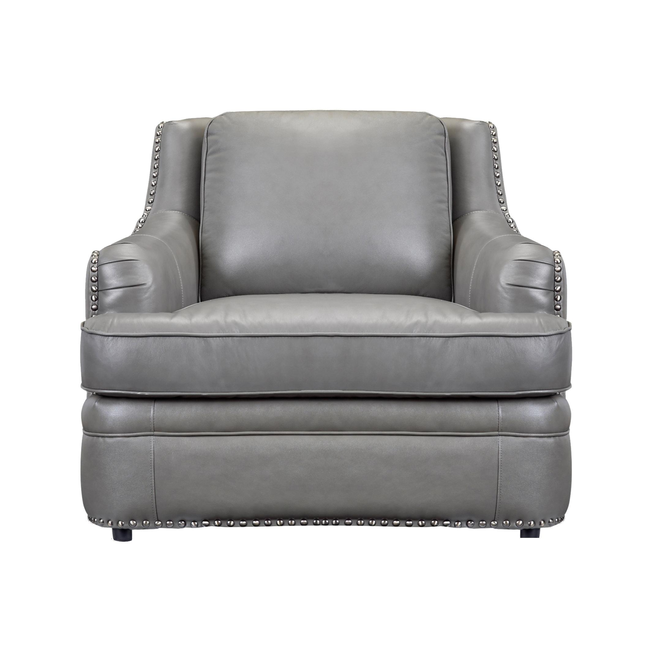 Calvin Top Grain Italian Leather Club Chair Free Shipping Today 18007979