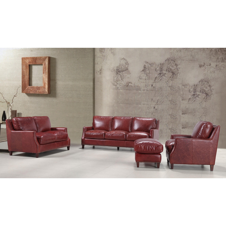 Braxton 100 Top Grain Italian Leather Sofa Free Shipping Today 18007996