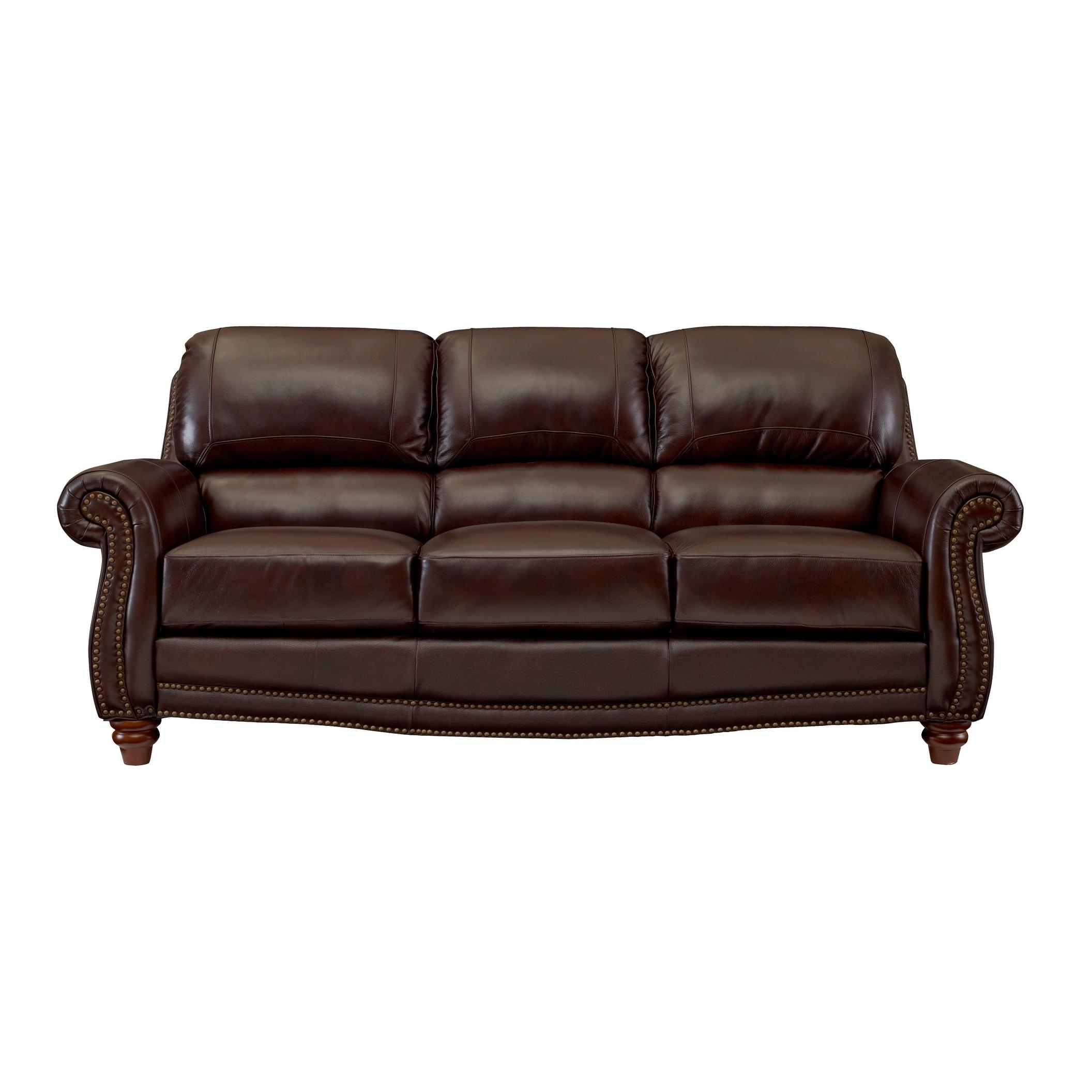 Shop Carter Top Grain Italian Leather Sofa   Free Shipping Today    Overstock.com   18008005