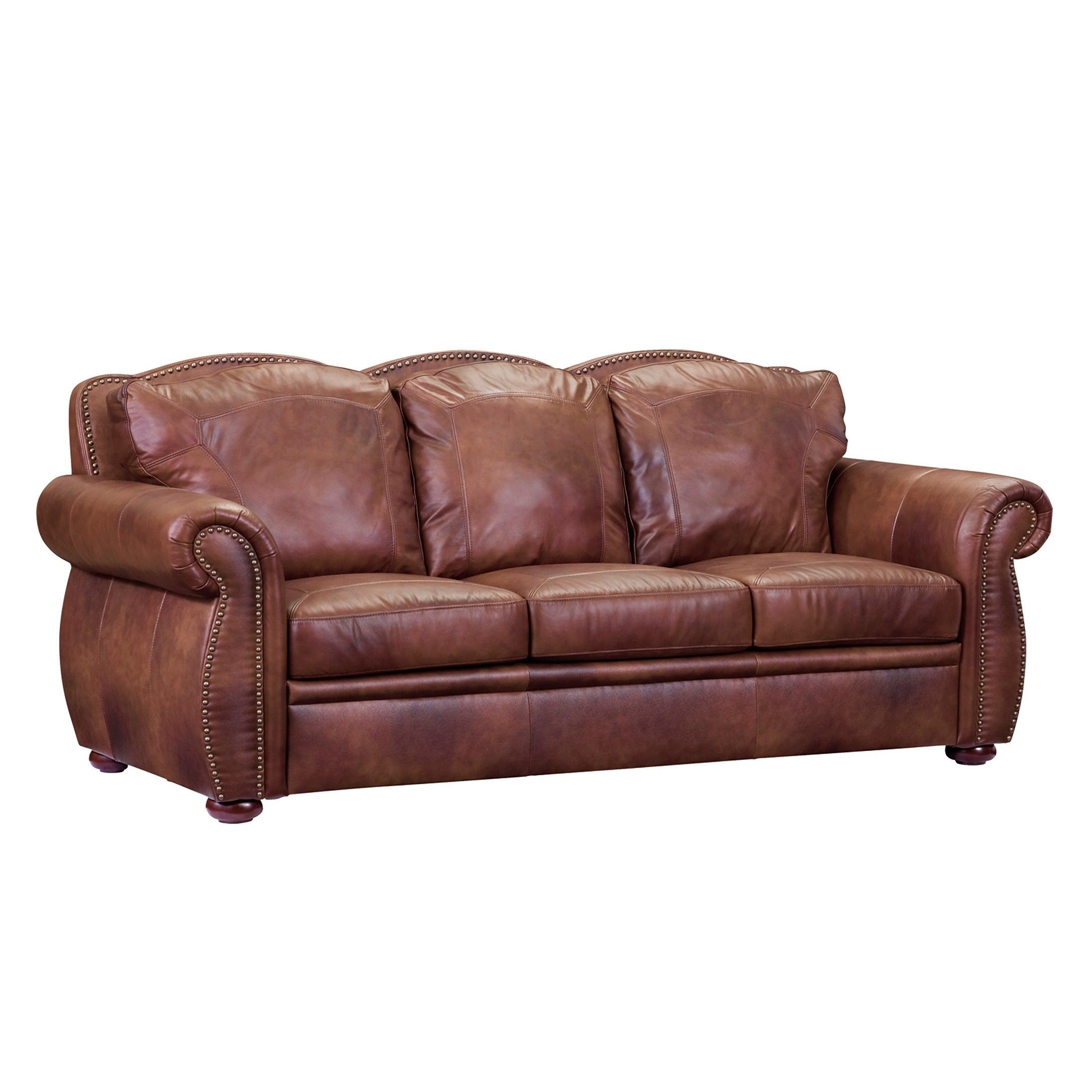 Shop Casey Top Grain Italian Leather Sofa - Free Shipping Today ...