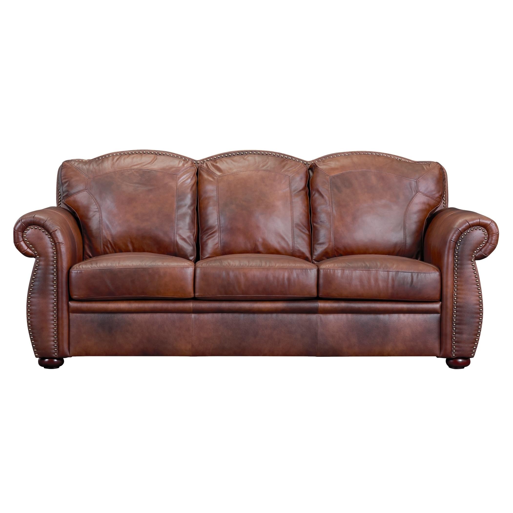 Casey Top Grain Italian Leather Sofa Free Shipping Today 18008091