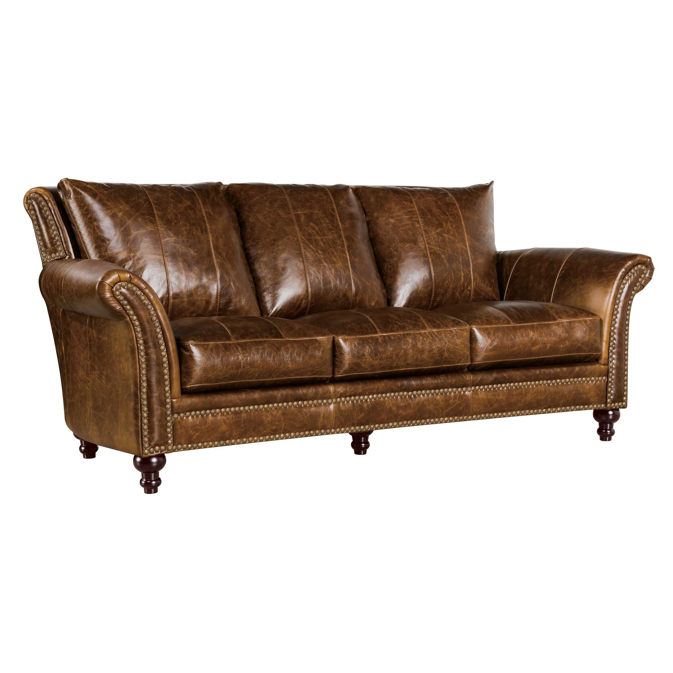 Shop Archibald 100% Top Grain Italian Leather Sofa - Free Shipping ...