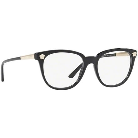 57510c3fb67 Shop Versace Women s VE3242A GB1 54 Black Plastic Eyeglasses - Free  Shipping Today - Overstock - 18008338