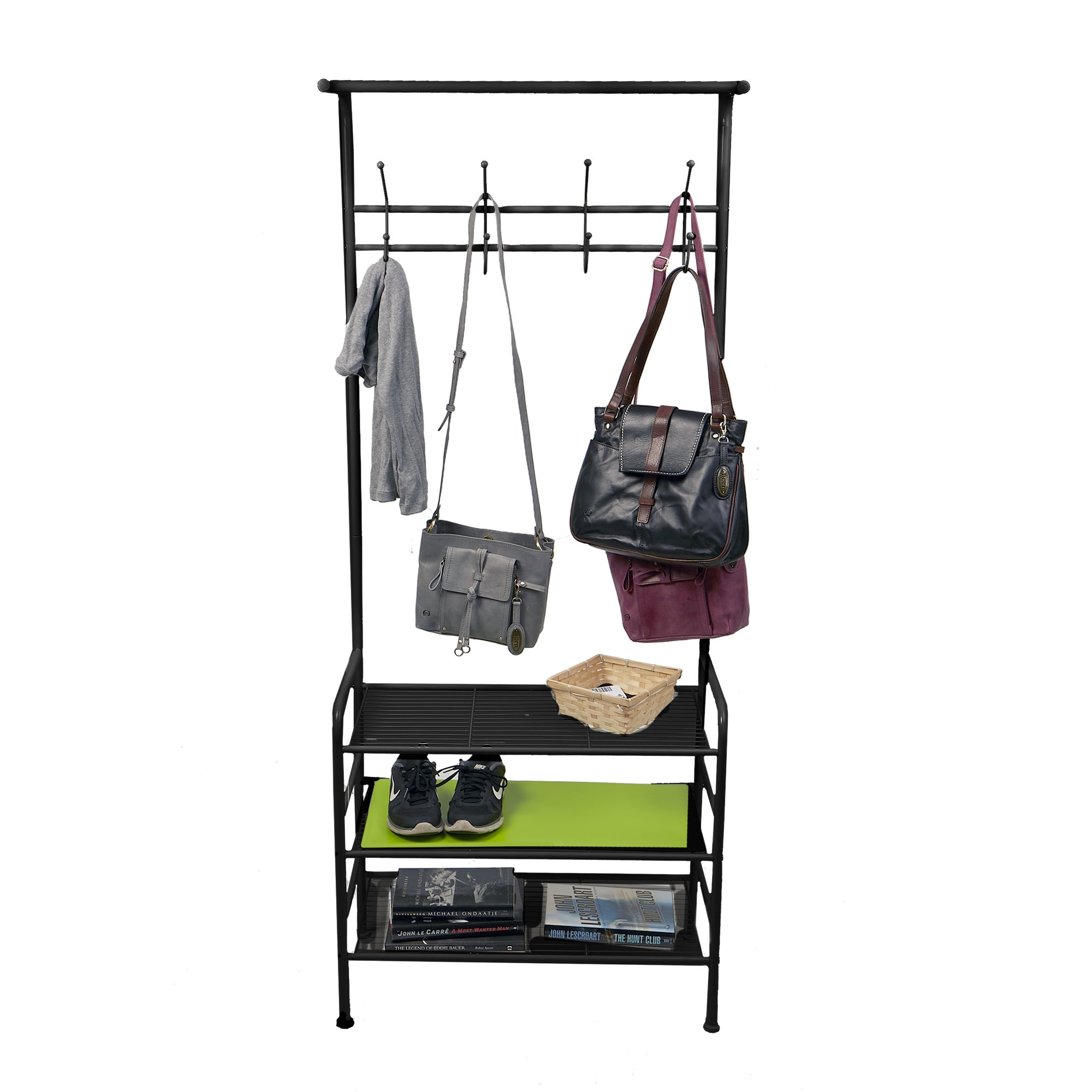 Mind Reader Metal Coat Shoe Rack Shelving Organizer Black Free Shipping Today 18008412