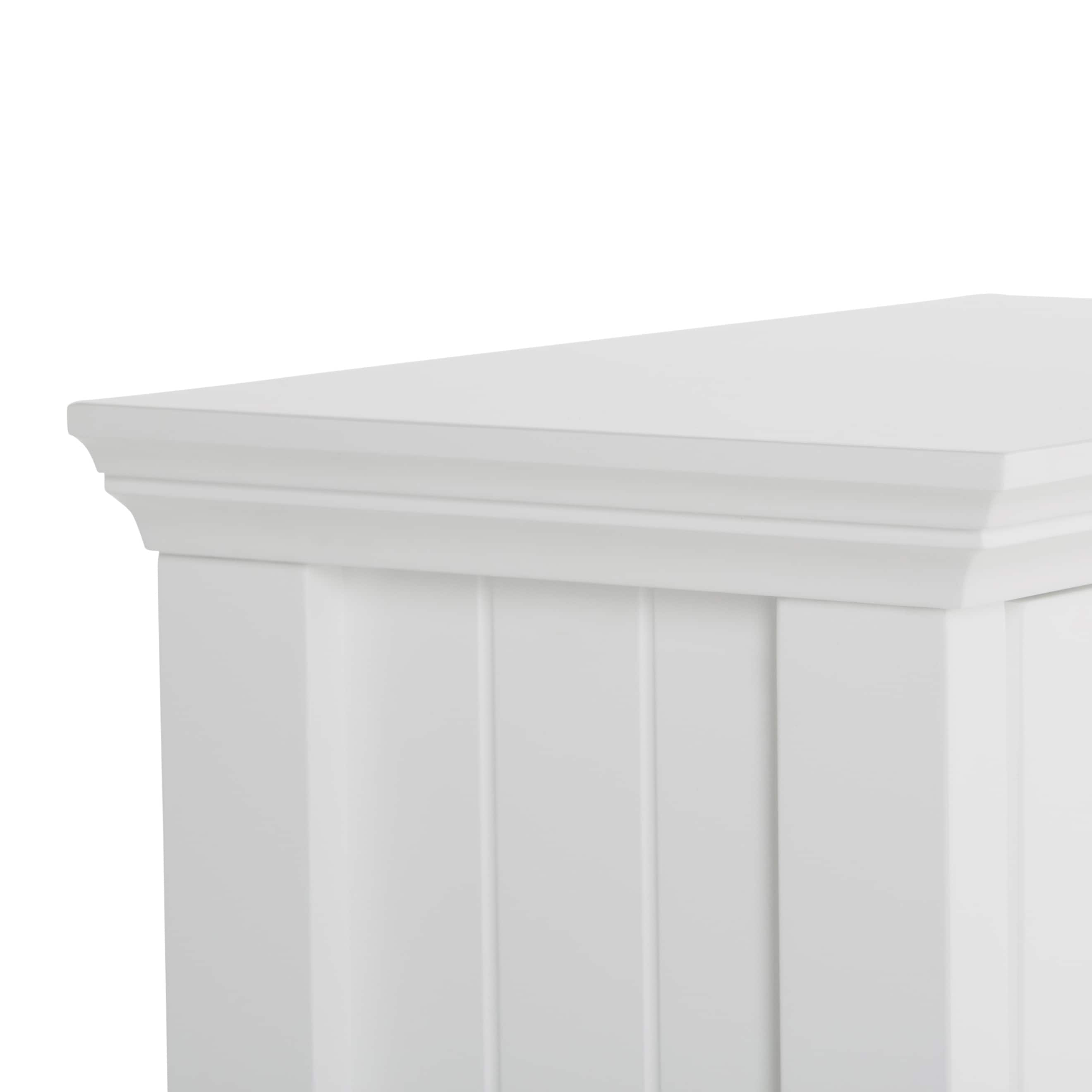 WYNDENHALL Normandy Single Door Wall Cabinet in White Free