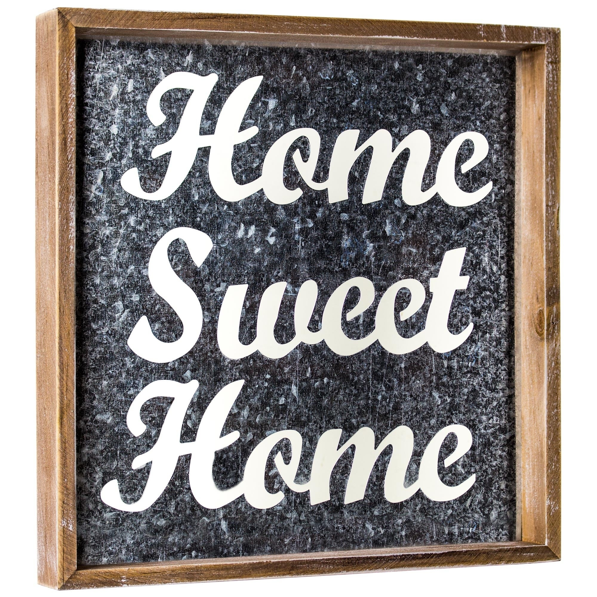 Shop Discontinued Home Sweet Home Galvanized Metal Framed Wall