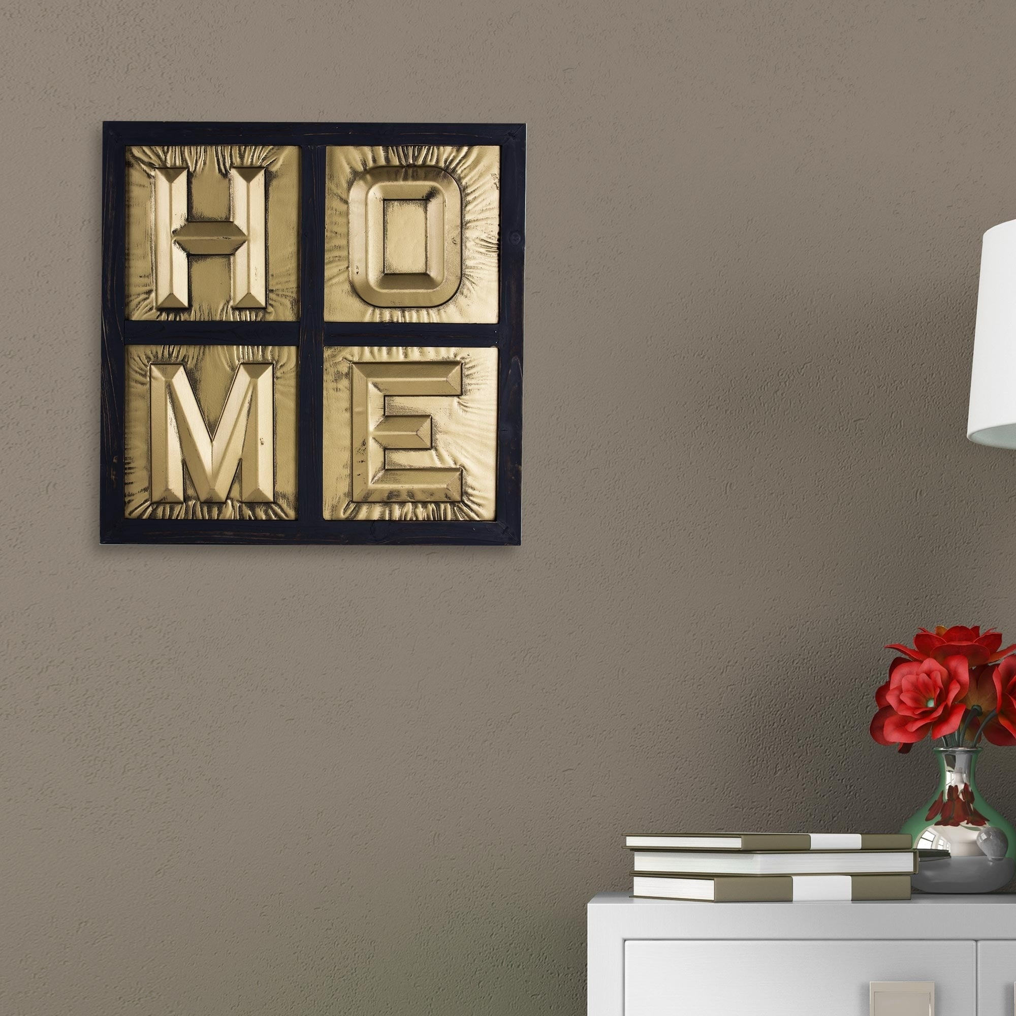 Metal Block Letters For Wall Home Sign 3D Gold Metal Block Letters Framed Wall Art Decor  Free