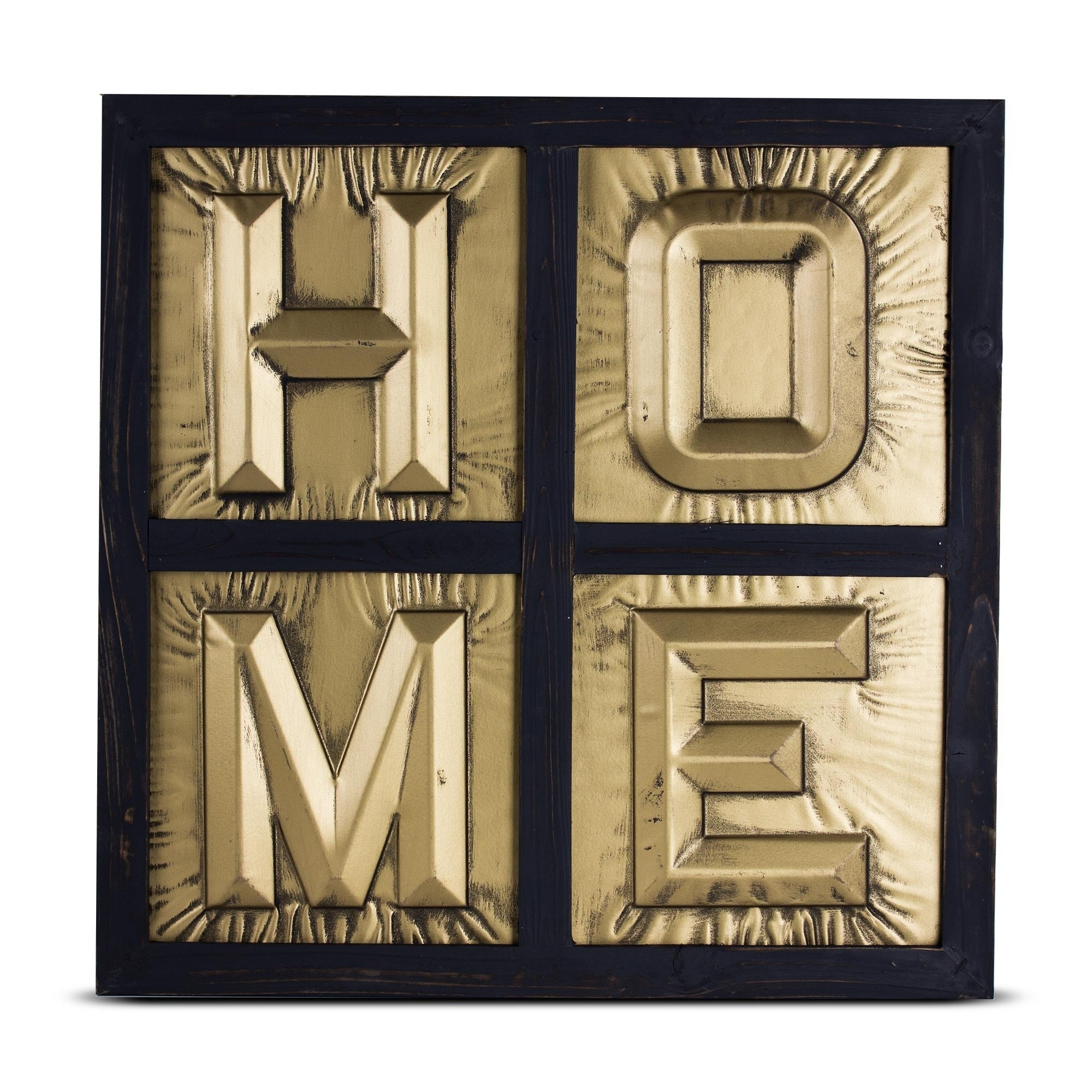 Gold Letters For Wall Home Sign 3D Gold Metal Block Letters Framed Wall Art Decor  Free