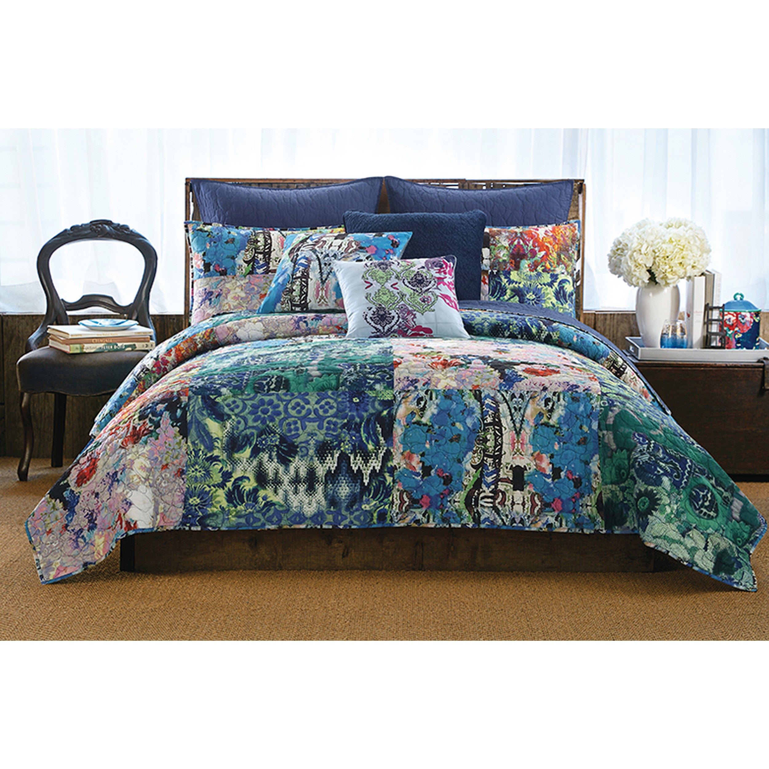 Tracy Porter Iris Floral Printed Quilt (Sham Sold Separately)   Free  Shipping Today   Overstock   24179690