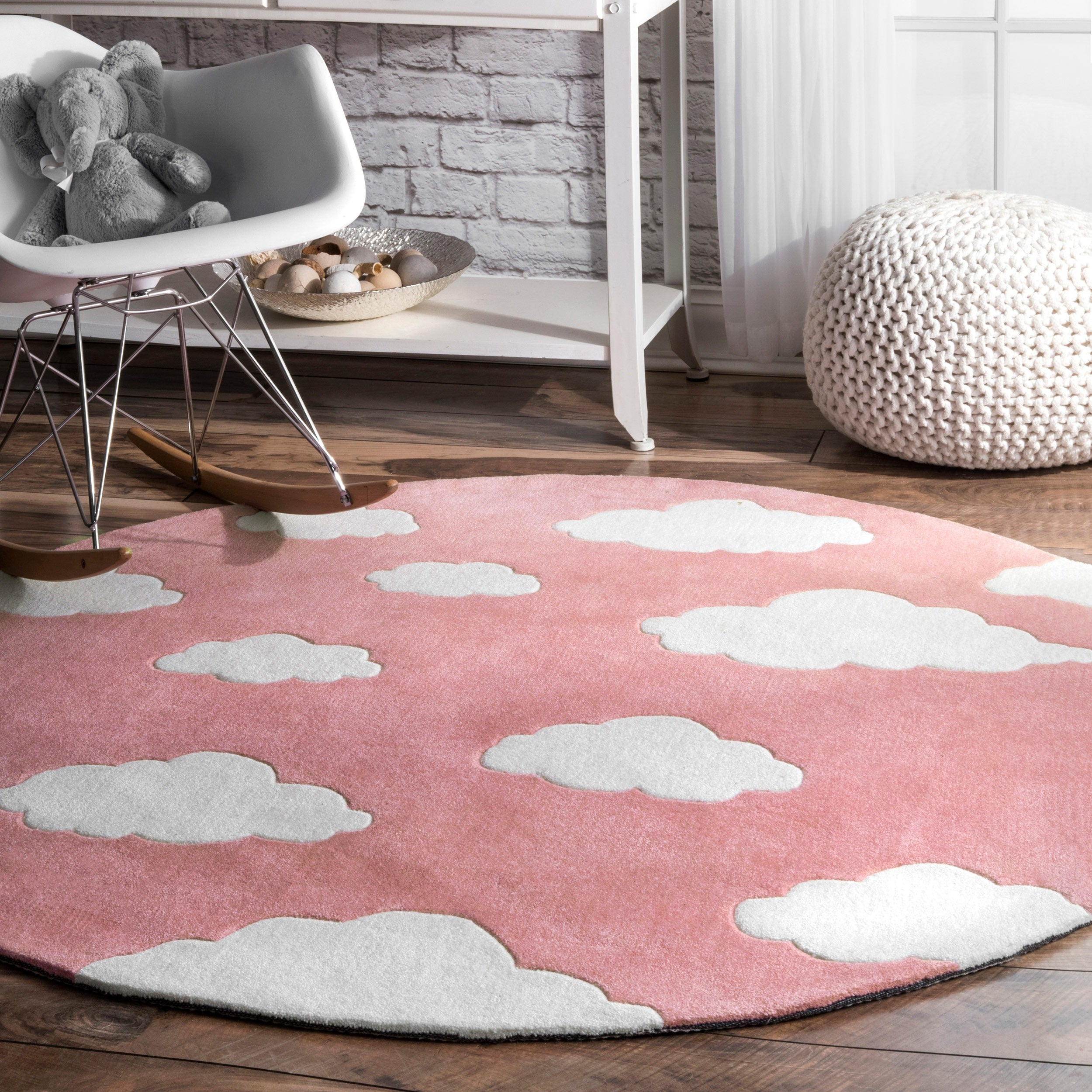 for round docomomoga pink best your suitable planning rug pick the rugs white youngster pertaining way to nursery