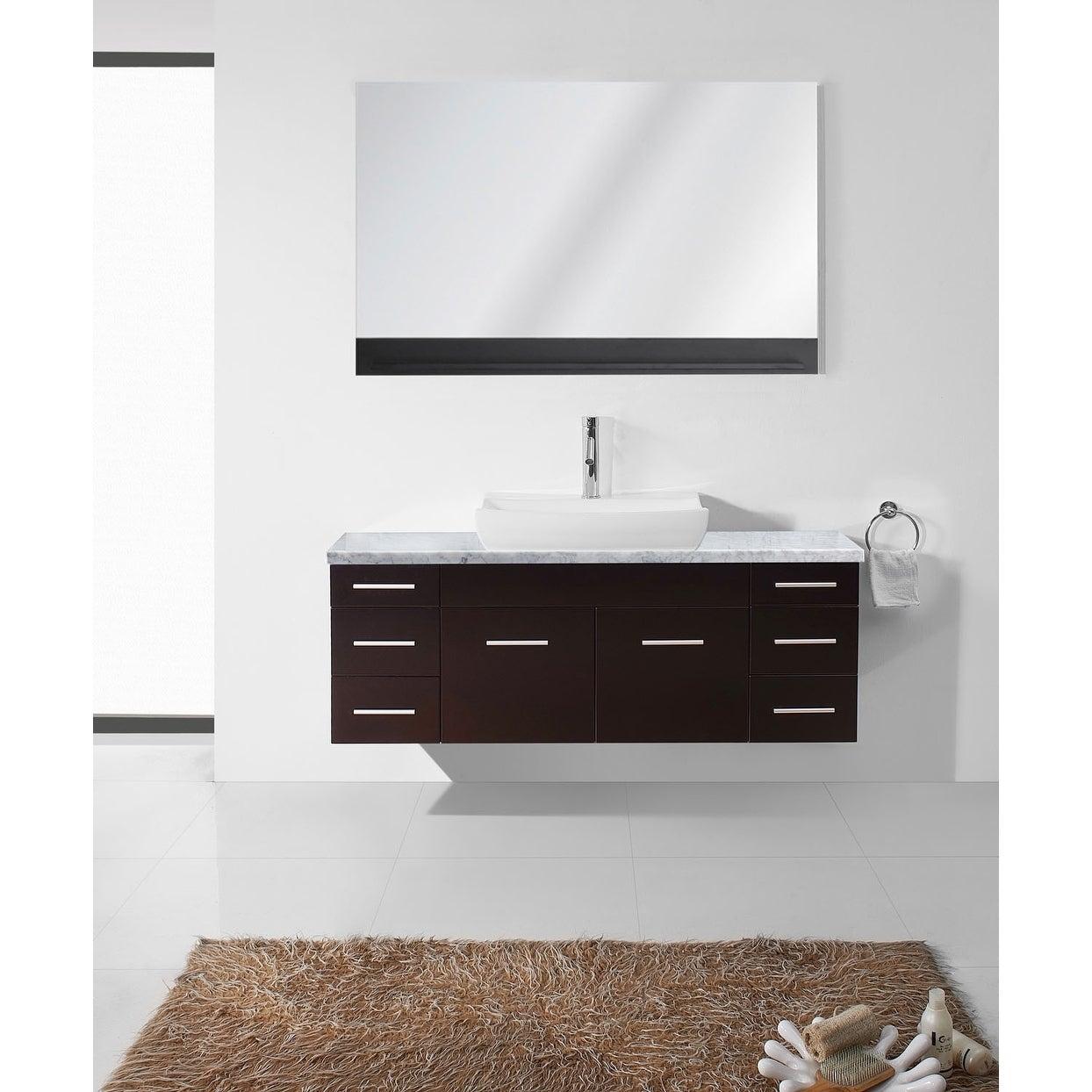 Shop Virtu USA Biagio 55-inch Italian Carrara White Marble Single ...
