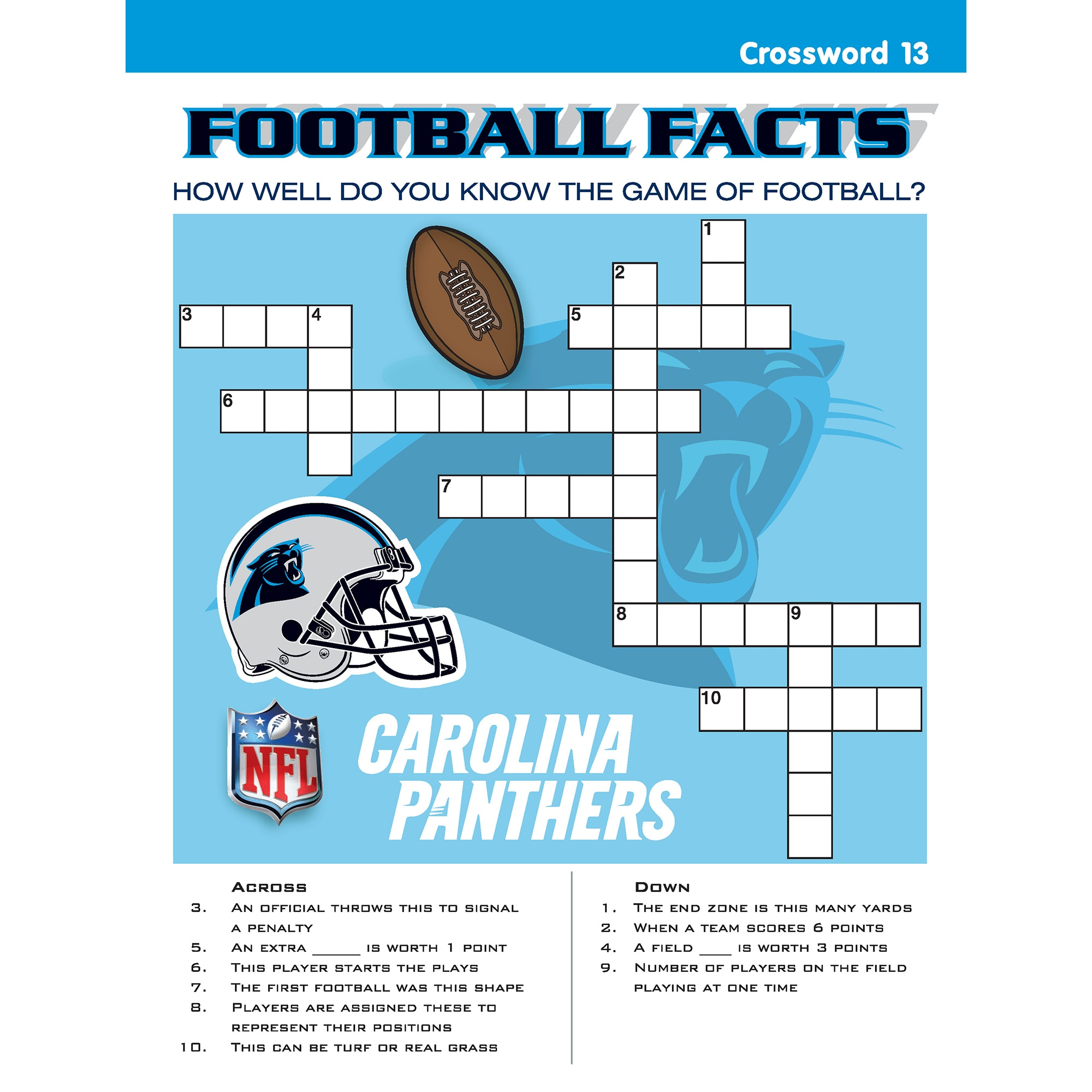 In The Sports Zone Go Panthers Activity Book Free Shipping On Orders Over 45 Com 18011984