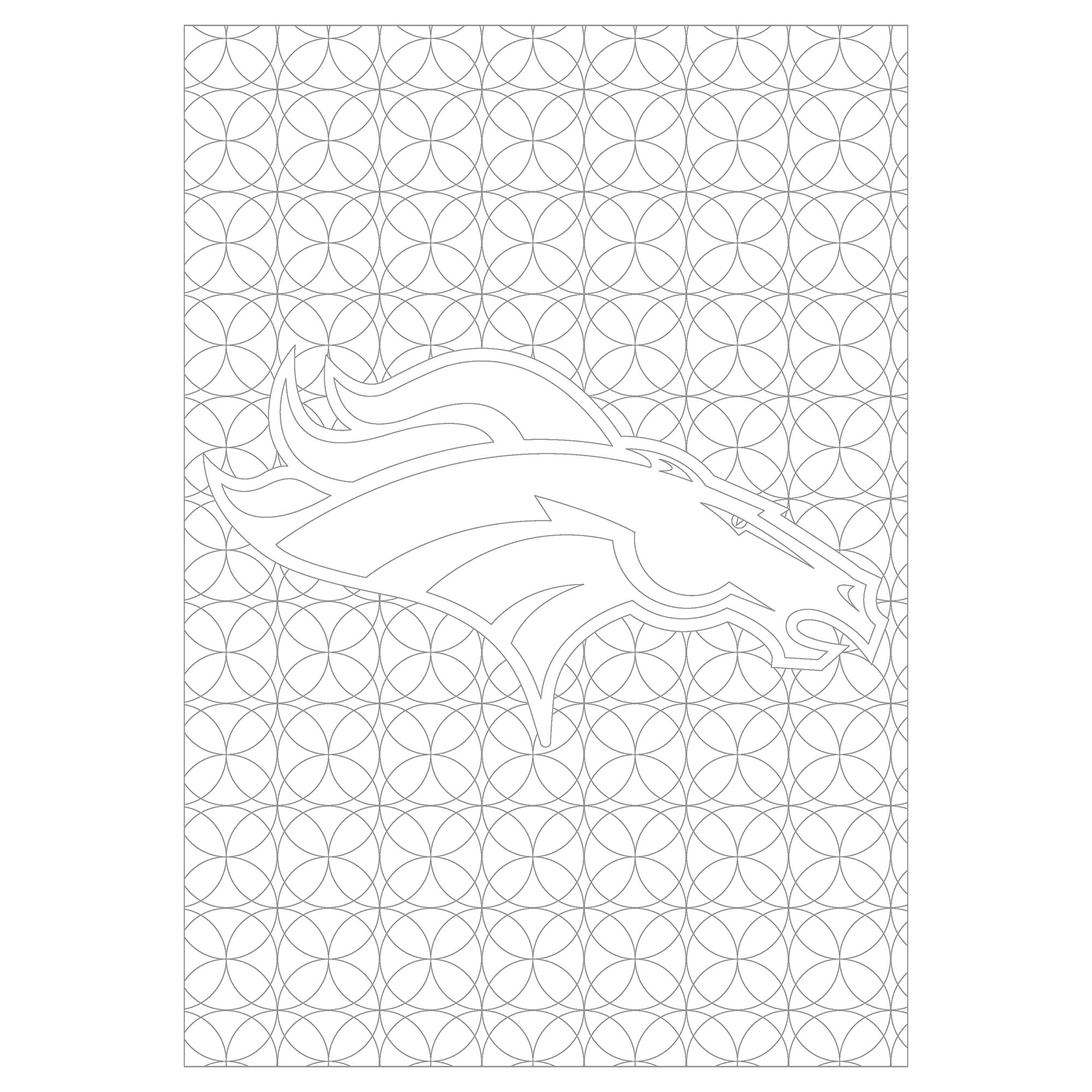 Shop Denver Broncos NFL Adult Coloring Book