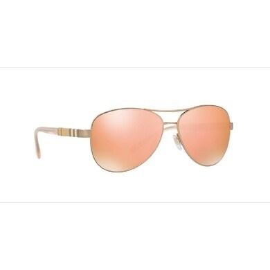 2284c7d711 Shop Burberry Women s BE3080 12357J 59 Matte Gold Aviator Sunglasses - Rose  - Free Shipping Today - Overstock - 18012664