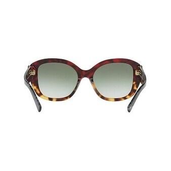 f3c40cc50e20 Shop Burberry Women s BE4248 36358E 57 Red Havana Havana Irregular Plastic  Sunglasses - Green - Free Shipping Today - Overstock - 18012665