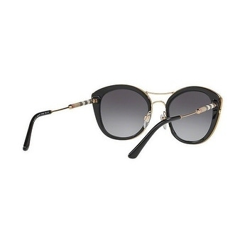 cfef939222b56b Shop Burberry Women s BE4251Q 3001T3 53 Black Round Sunglasses - Grey -  Free Shipping Today - Overstock - 18012699