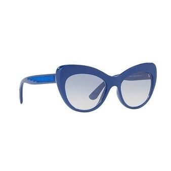 2e2052acc20a Shop Dolce & Gabbana Women's DG6110 312219 52 Blue Gradient Cat Eye  Sunglasses - Free Shipping Today - Overstock - 18012704