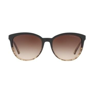 a39115b0628e Shop Emporio Armani Women s EA4101 556713 56 Brown Gradient Cat Eye  Sunglasses - Free Shipping Today - Overstock.com - 18012782