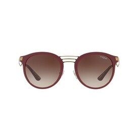 6f09f4632 Shop Vogue Women's VO5132S 256613 52 Brown Gradient Oval Sunglasses - Free  Shipping Today - Overstock.com - 18012865