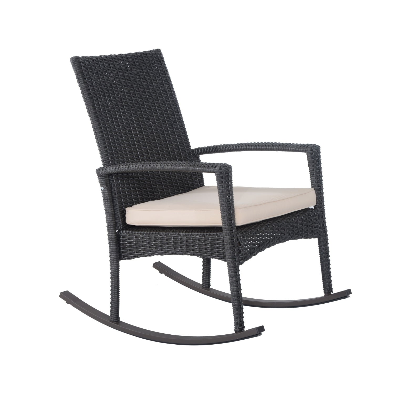 Shop Outsunny Three Piece Outdoor Rocking Chair And Table Set Free