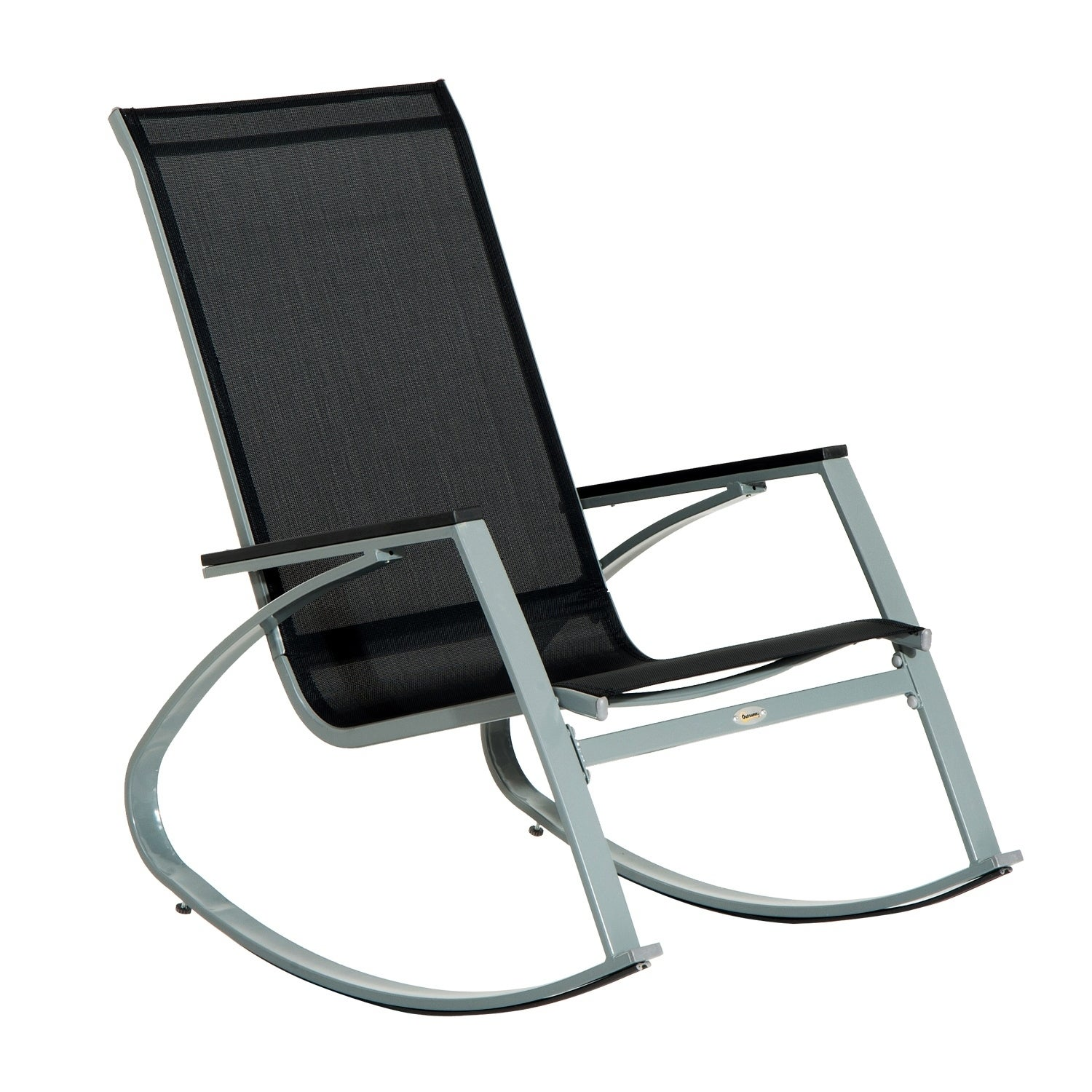 Shop Outsunny Padded Steel Sling Porch Rocker Patio Chair   Free Shipping  Today   Overstock.com   18013219