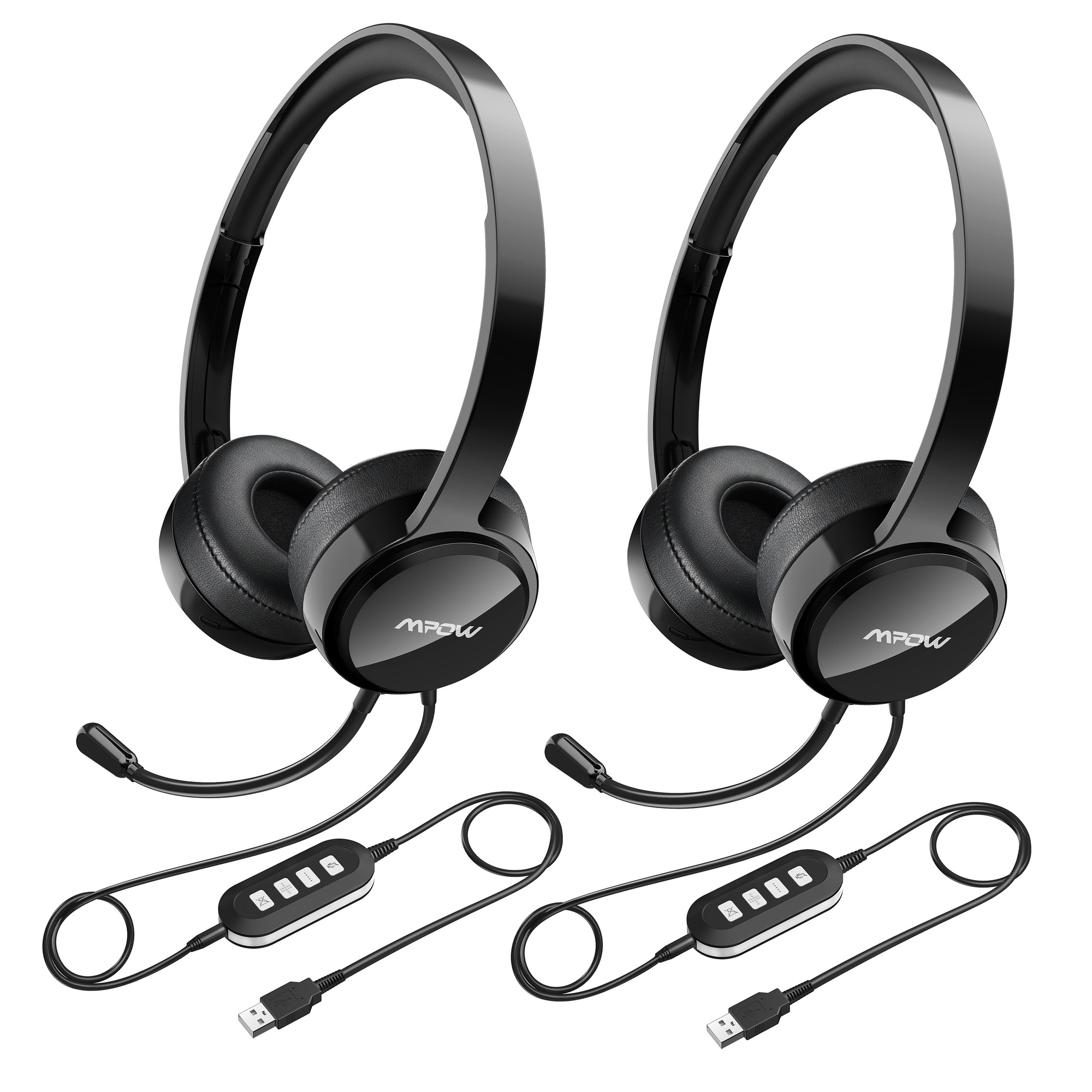 ad9588ef0d1 Shop Mpow USB Headset with Noise Reduction Sound Card, In-line Control,  Protein Memory Earmuffs for Skype Calls with Mac and PC - On Sale - Free  Shipping On ...