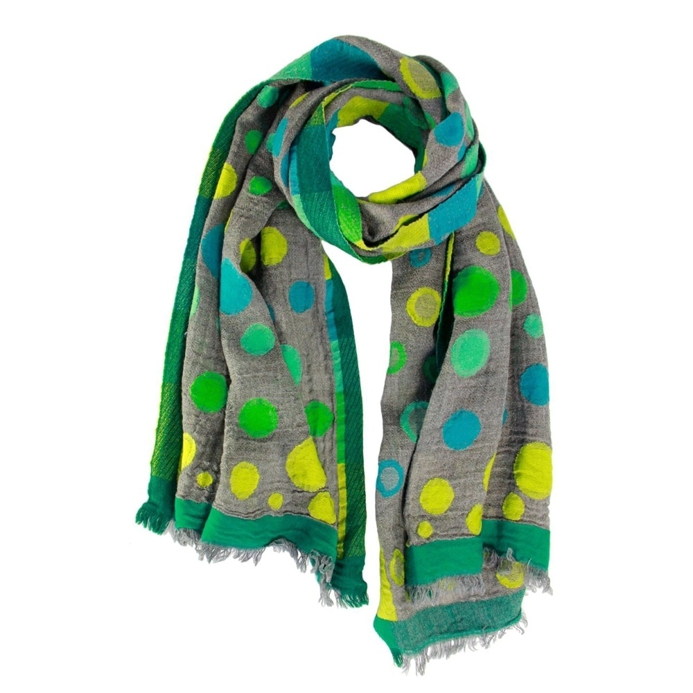 4f6e2c24ce863 Shop Handmade Veroma Women's Emerald Drops Scarf (India) - Large - Free  Shipping Today - Overstock - 18016766