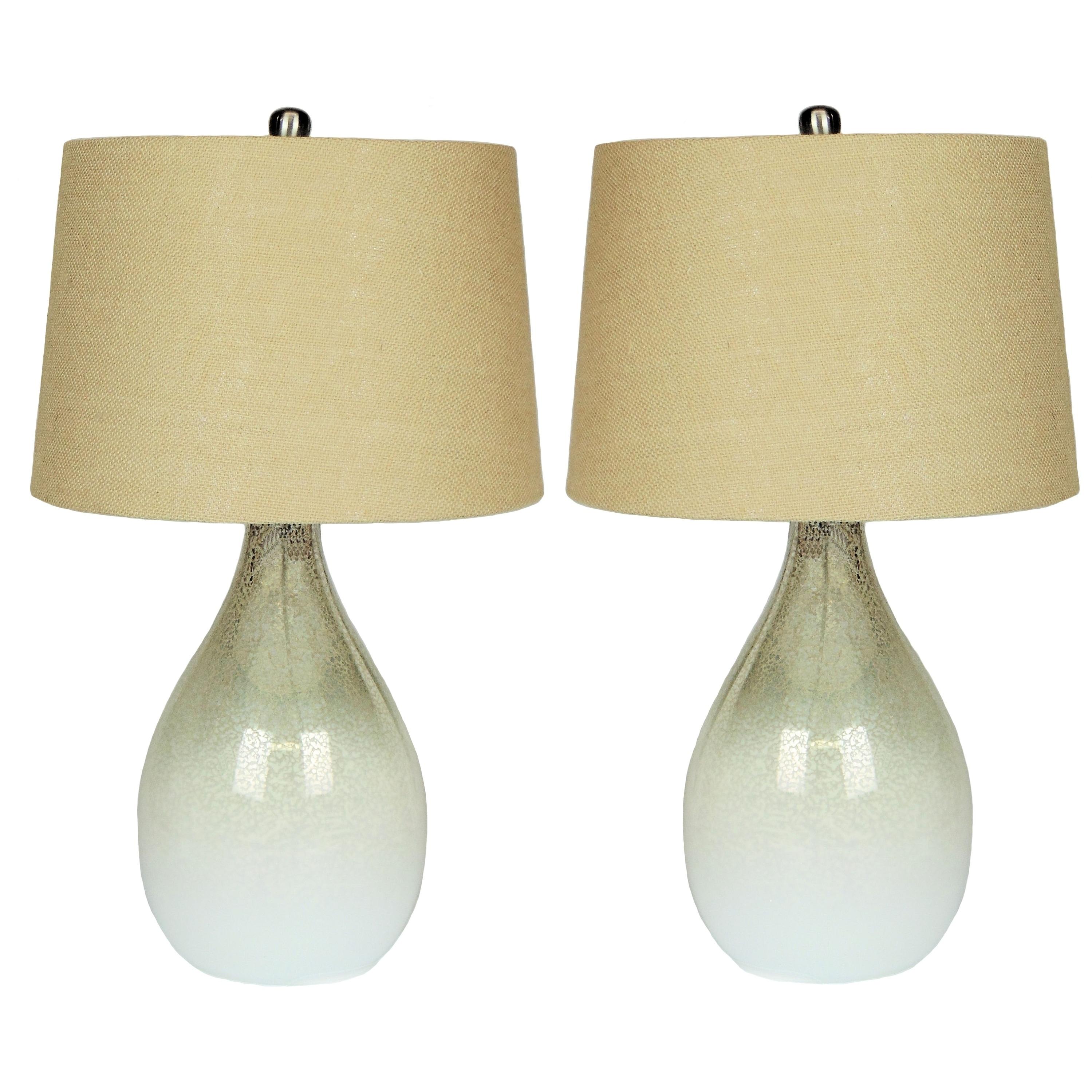 Shop Daliana Set of 2 Mercury Glass Table Lamp Set - 24 inches ...