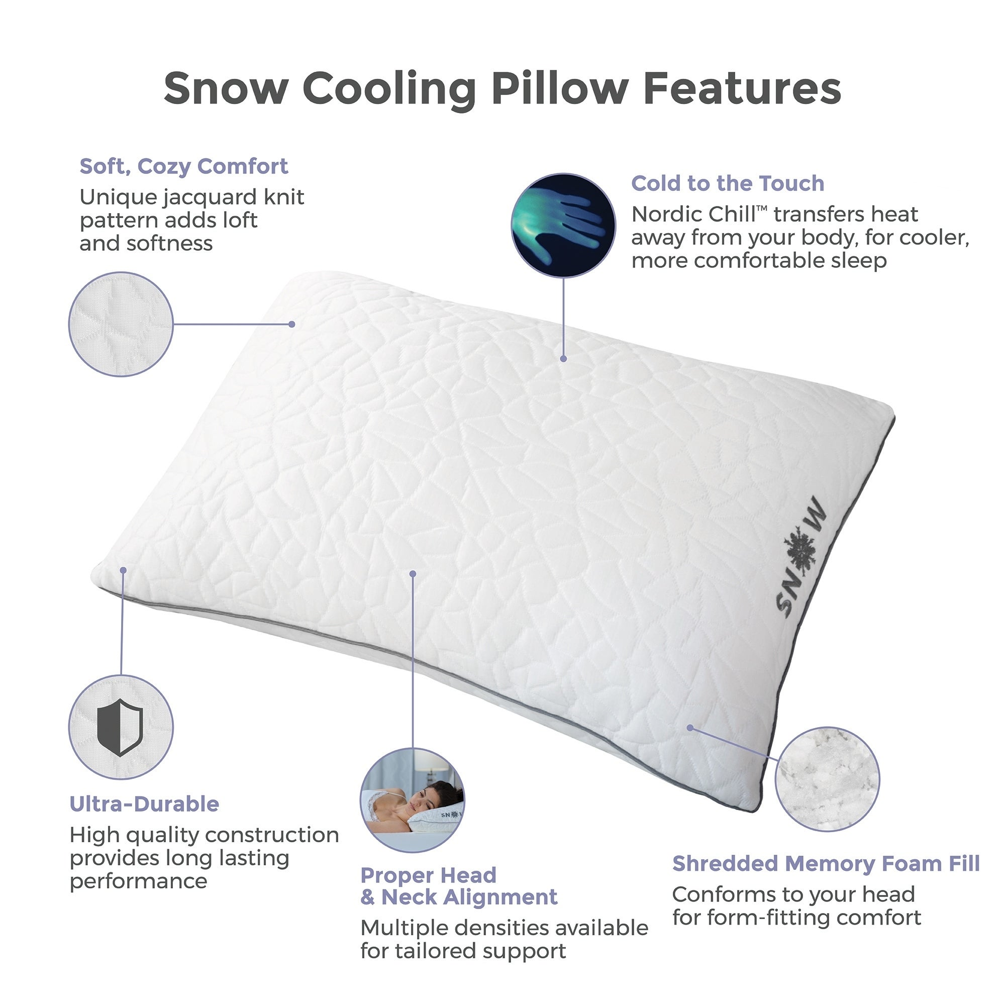 on pillow bedding memory gel bath rest tempure cooling shipping product reversible cold loft foam free