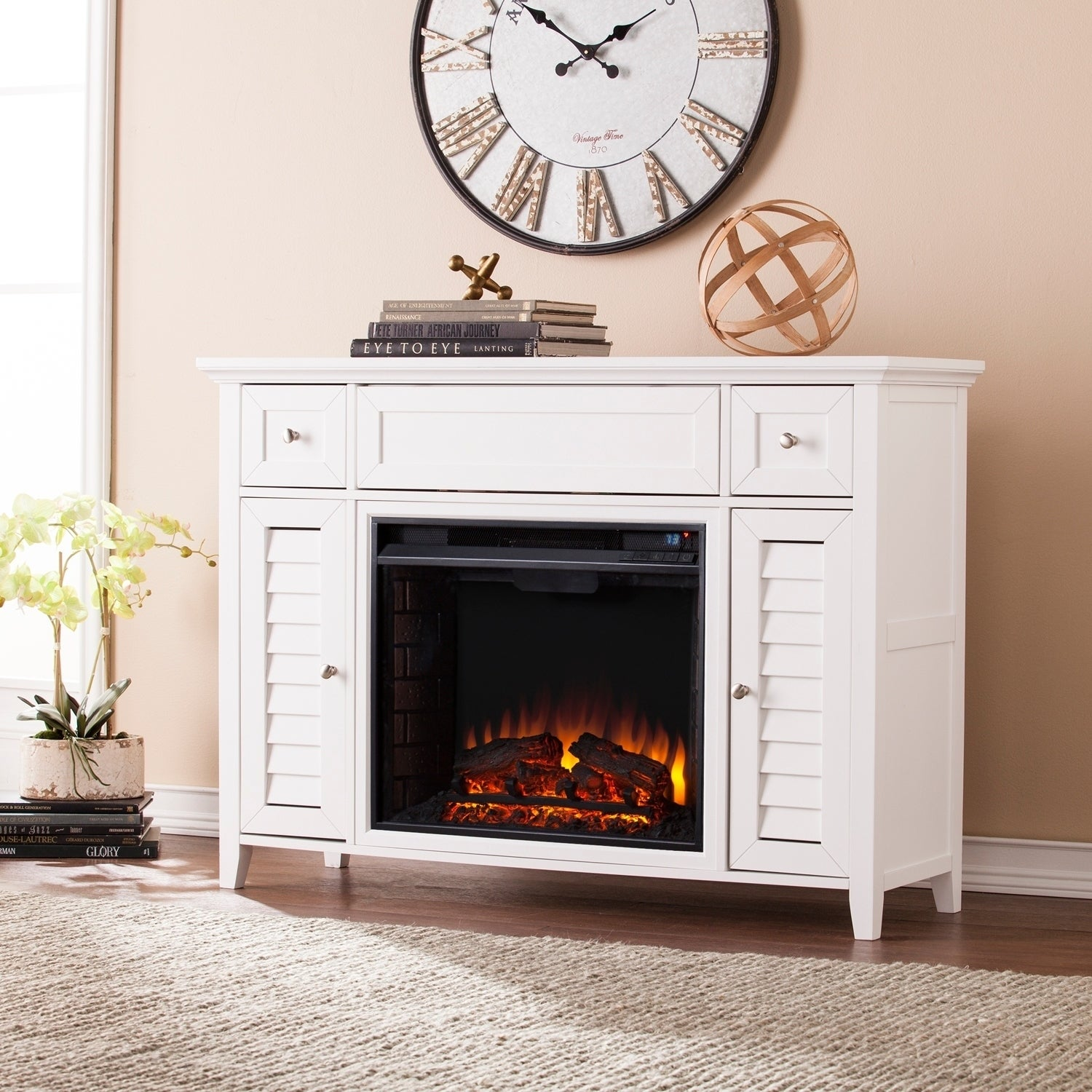 Gracewood Hollow Blacksnake 3 In 1 Media Fireplace Console  Free Shipping