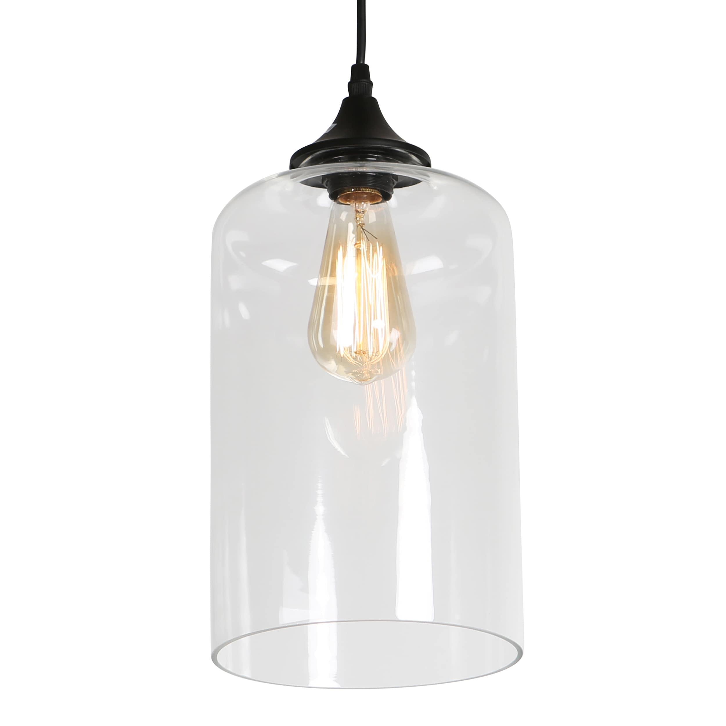 journee lighting. Journee Home \u0027Leggero\u0027 12 In Hard Wired Glass Pendant Light With Included Edison Bulb - Free Shipping Today Overstock 24186466 Lighting 0