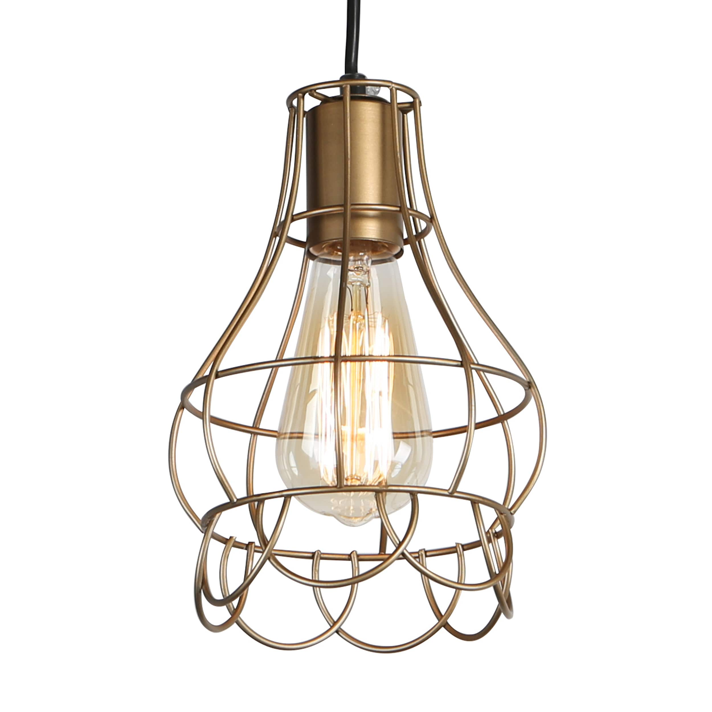 journee lighting. Journee Home \u0027Mattie\u0027 6 In Hard Wired Iron Wire Pendant Light With Included Edison Bulb - Free Shipping Today Overstock 24186467 Lighting O