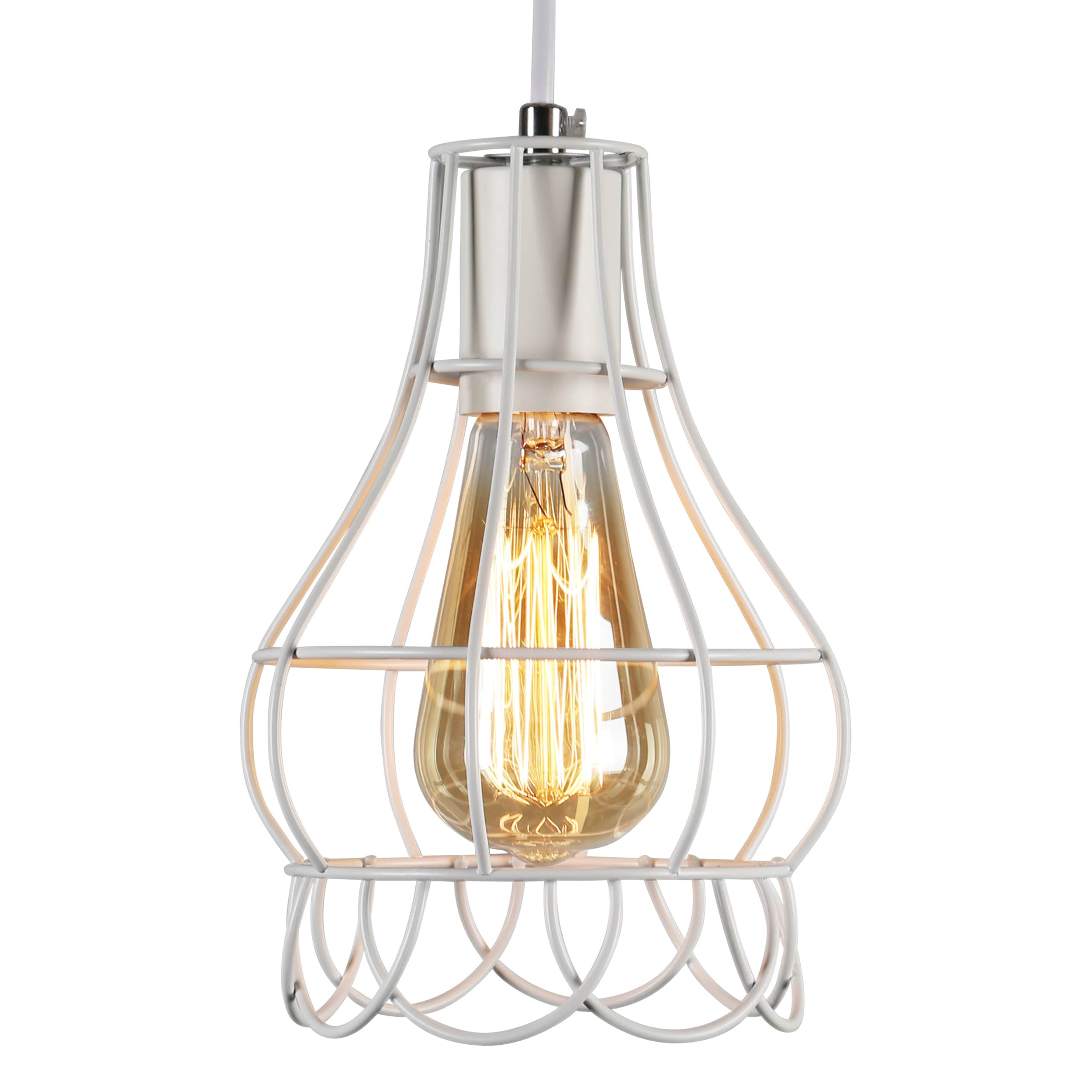 journee lighting. Journee Home \u0027Mattie\u0027 6 In Hard Wired Iron Wire Pendant Light With Included Edison Bulb - Free Shipping Today Overstock 24186468 Lighting D