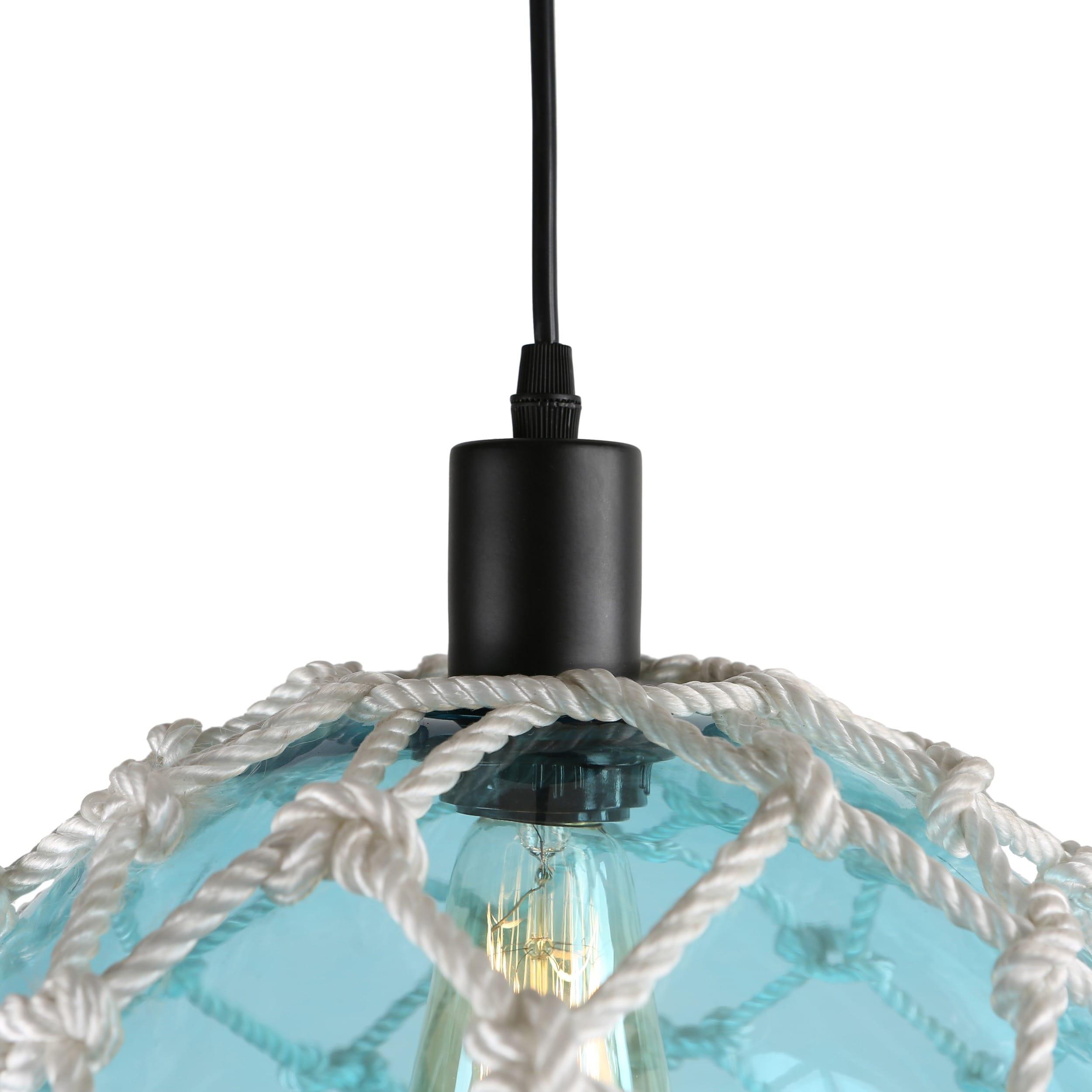 journee lighting. Journee Home \u0027Nura\u0027 8 In Hard Wired Glass Hemp Net Pendant Light - Free Shipping Today Overstock 24186469 Lighting S