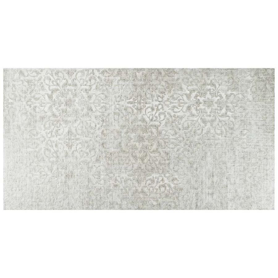 Shop SomerTile 11.75x23.625-inch Cassi Grey Decor Porcelain Floor ...