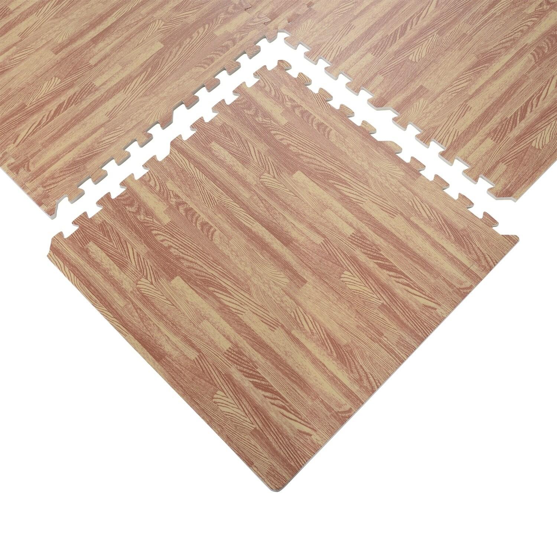 Soozier Interlocking Puzzle Foam Floor Tile Mats Red Oak Free