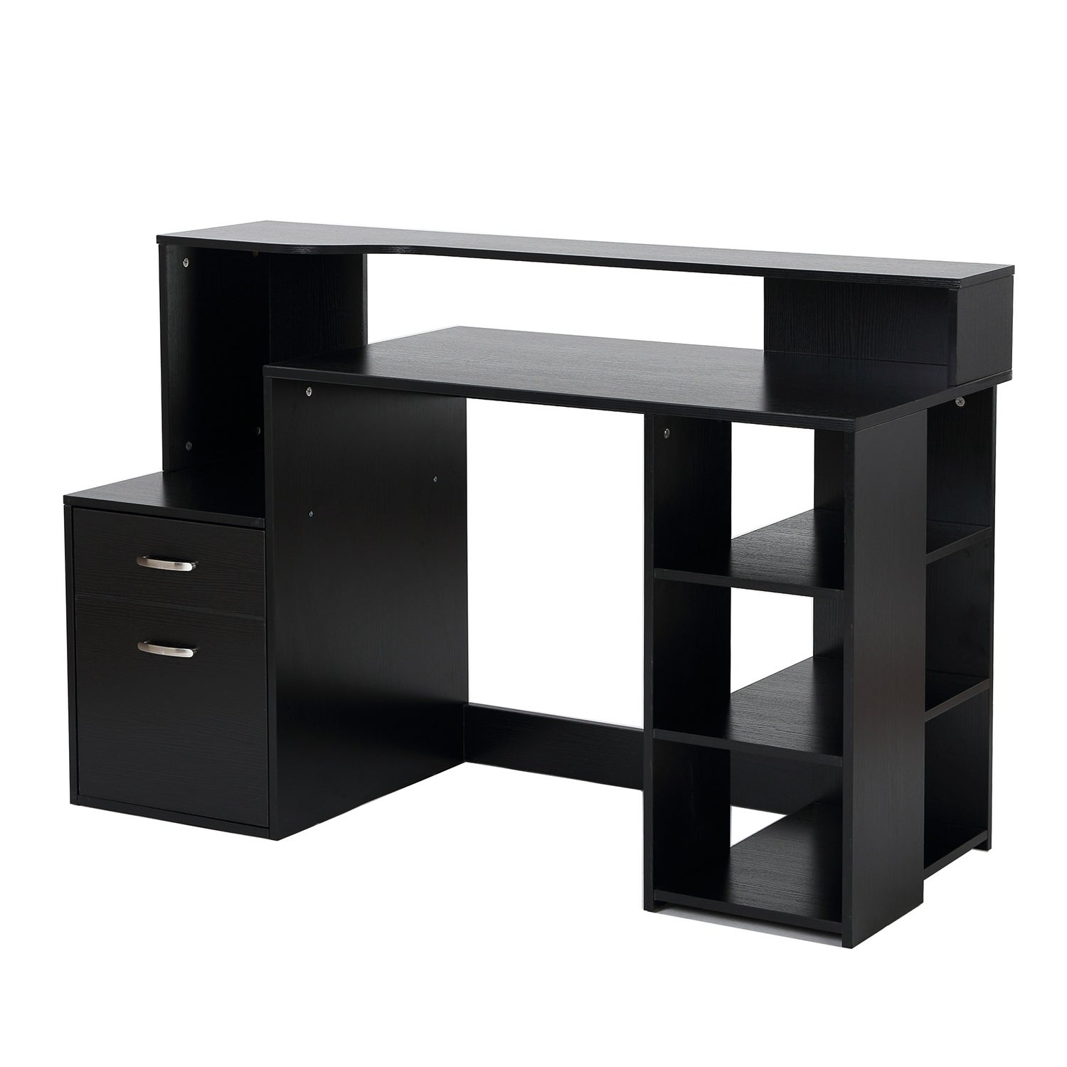 office computer tables. HomCom Multi-Shelf Dorm And Home Office Computer Desk - Free Shipping Today Overstock 24188515 Tables