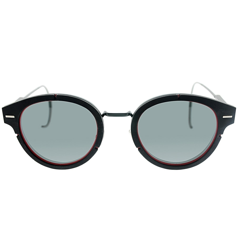 bfbe4af18f Shop Dior Round Magnitude 01 S7Y Unisex Red Black Frame Grey Lens Sunglasses  - Free Shipping Today - Overstock - 18021283