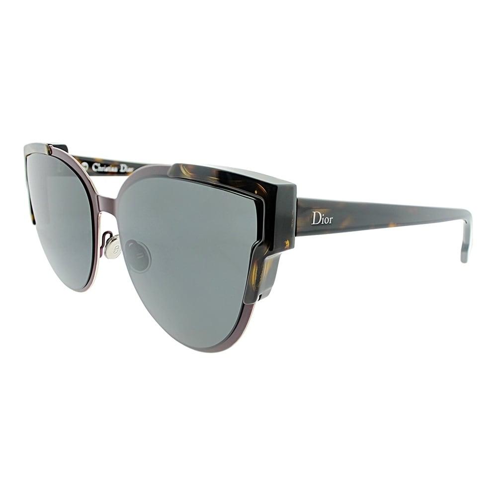 25f1903de17 Shop Dior Cat-Eye Wildly Dior S P7L Y1 Women Havana Burgundy Frame Grey  Lens Sunglasses - Ships To Canada - Overstock.ca - 18021284
