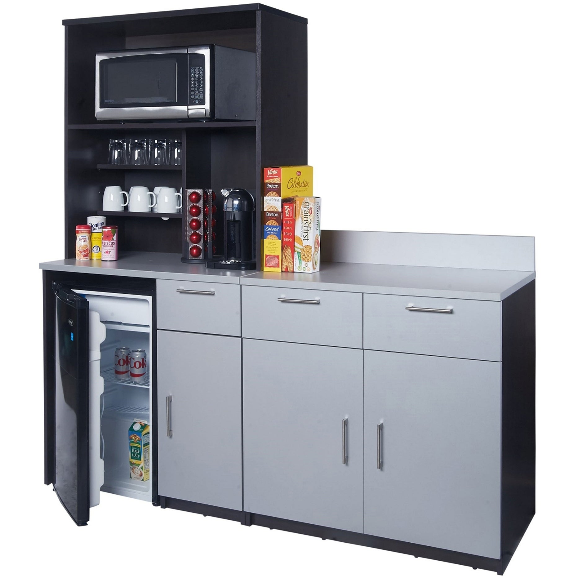 Shop Coffee Break Room Cabinets ASSEMBLED Model O4P0A7L0S 3pc ...