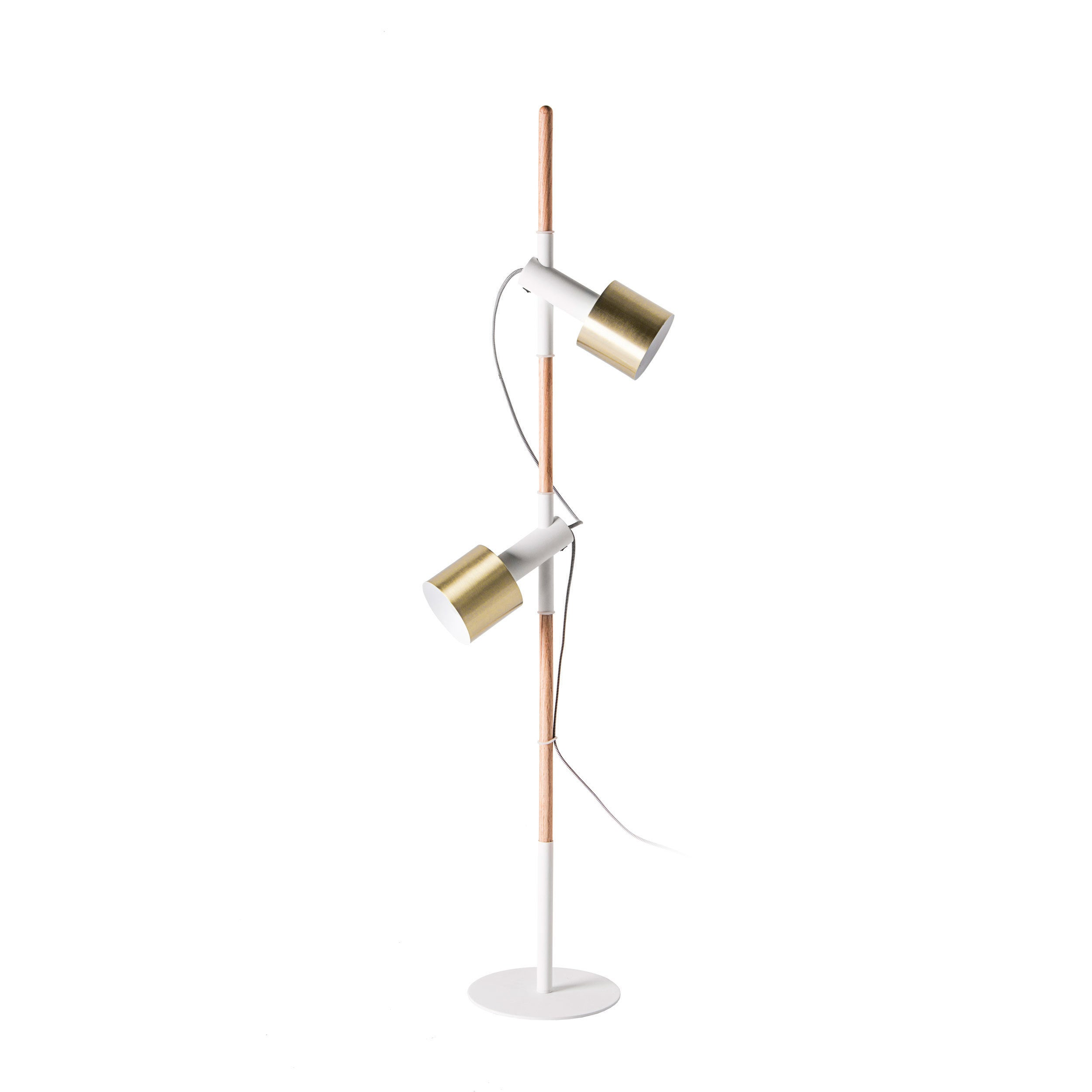 Watch Hill 57\'\' Anna Brass Metal Shade Floor Lamp - Free Shipping ...