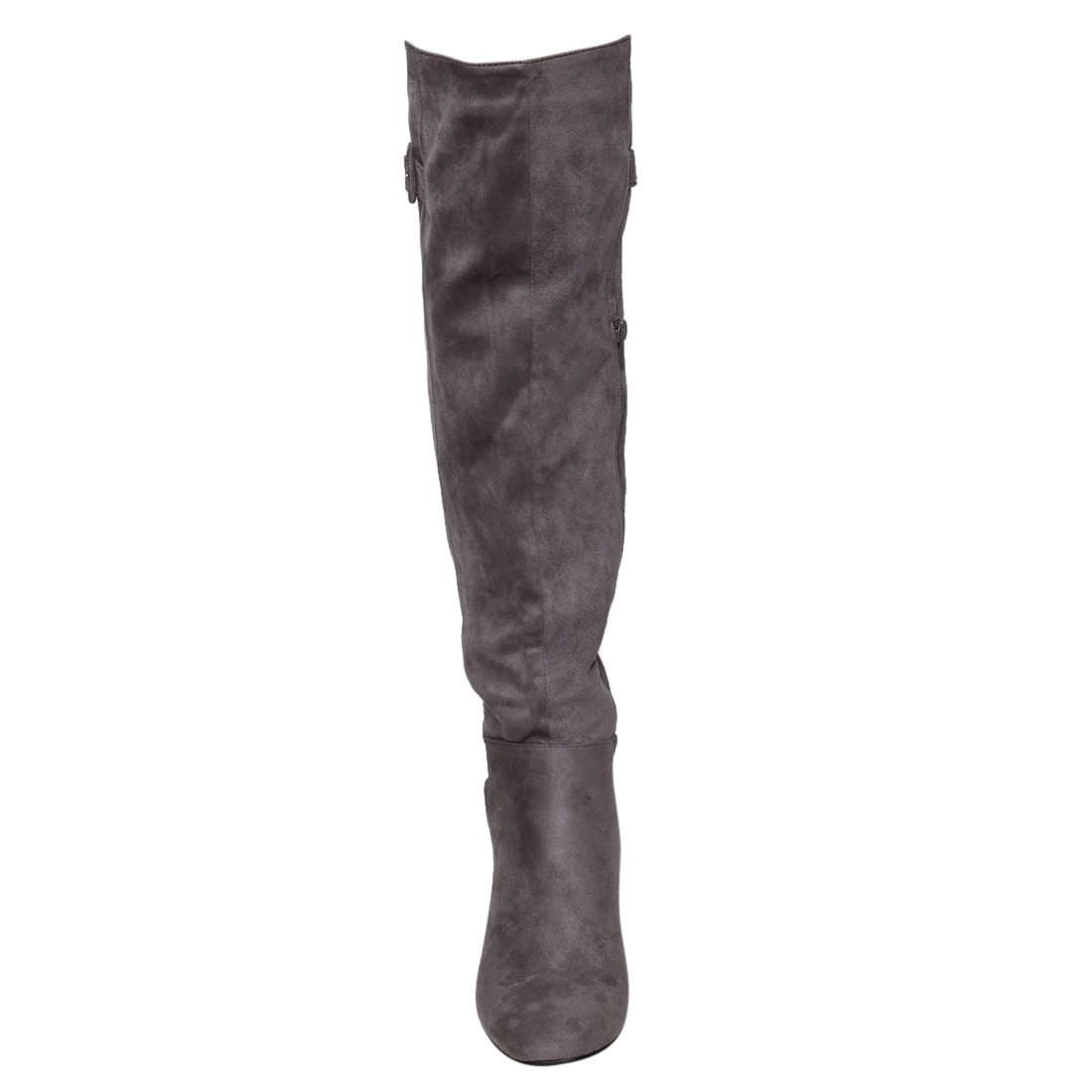 a8c47fcc9123 Shop Beston EJ47 Women s Side Zipper Buckle Strap Block Heel Over The Knee  High Boots - Free Shipping On Orders Over  45 - Overstock - 18027922