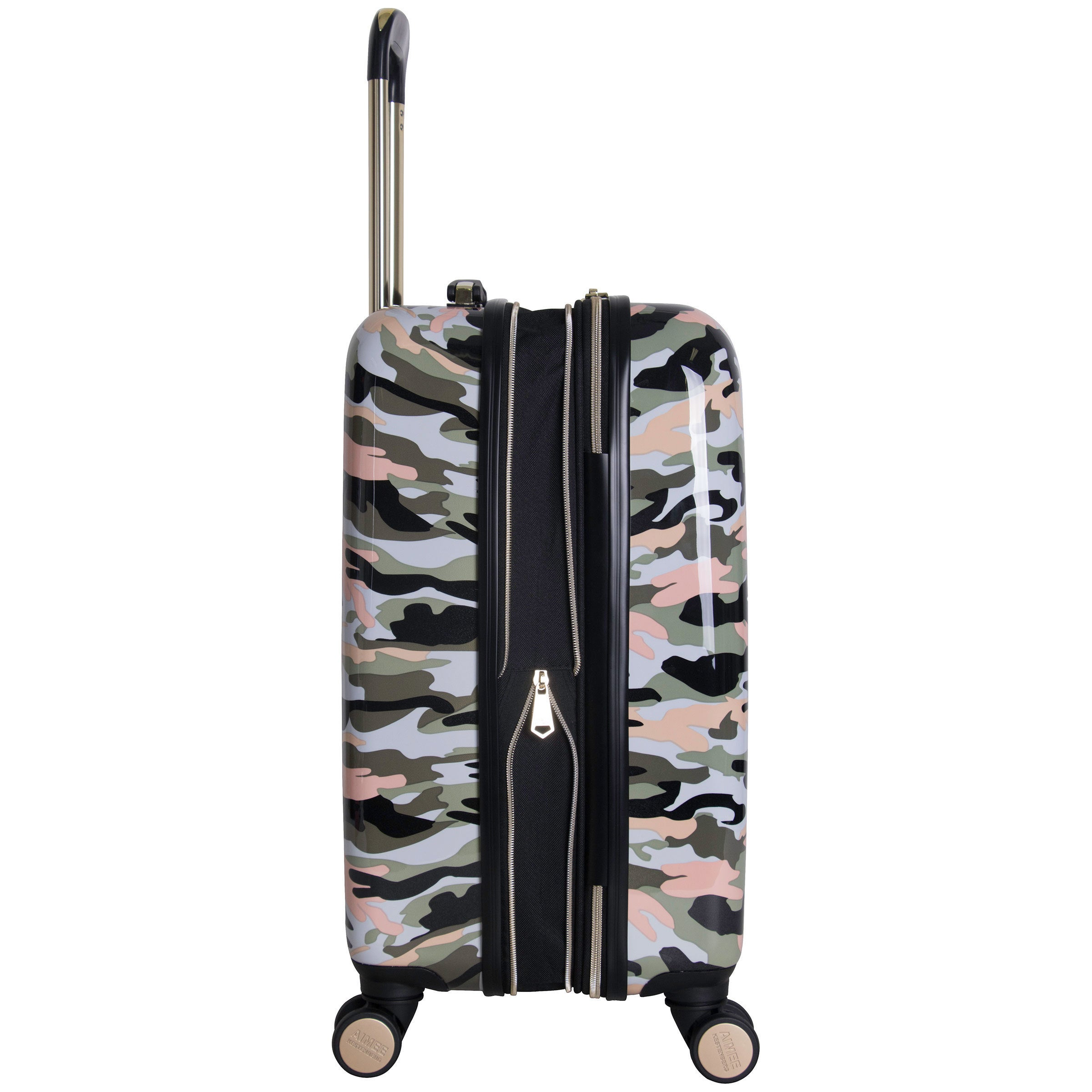 Shop Aimee Kestenberg Sergeant Collection 20-inch Hardside Camo Printed  8-Wheel Expandable Carry-On Suitcase - Free Shipping Today - Overstock -  18029735 c4b7ad0438c